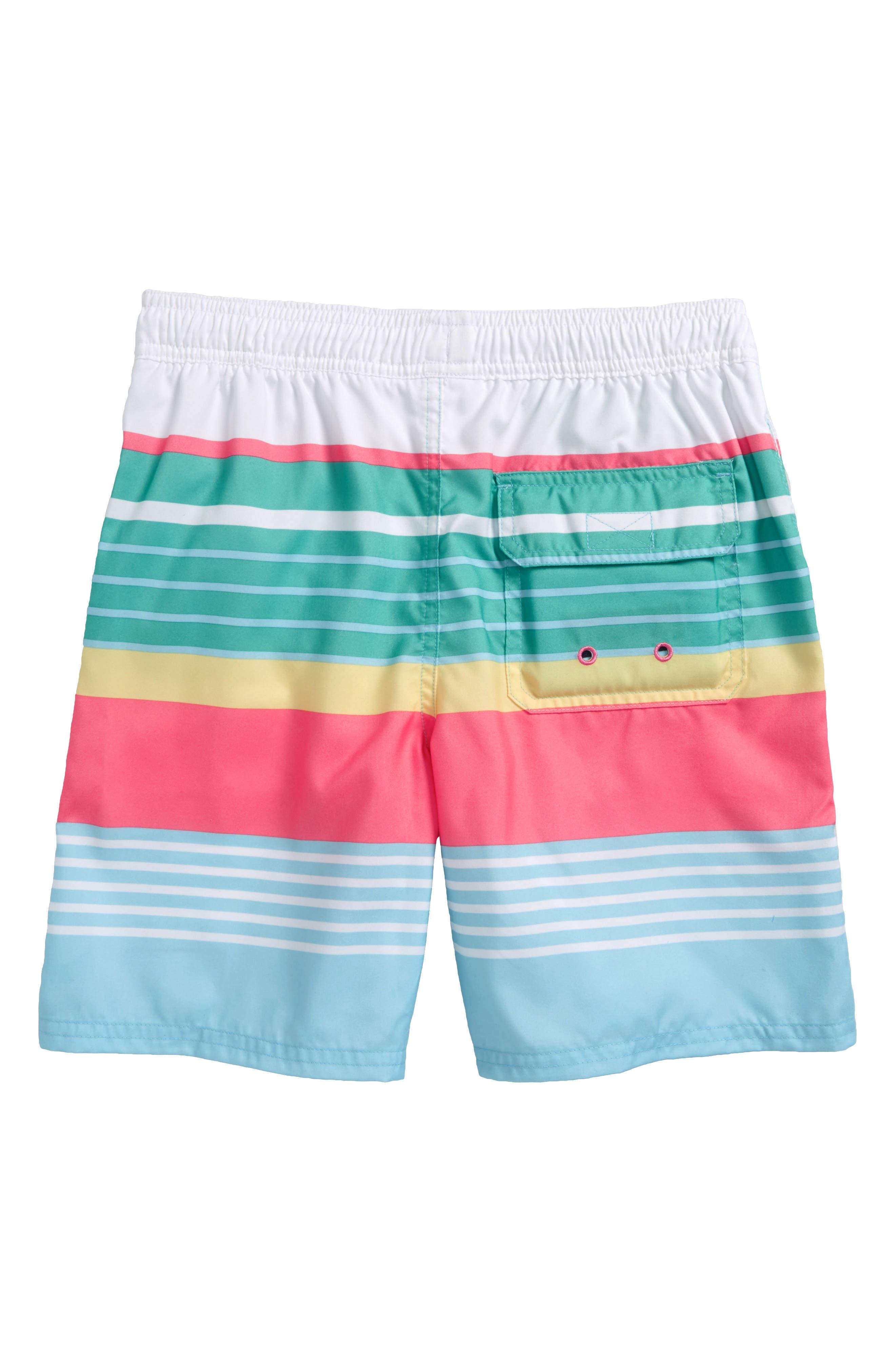 Chappy Boca Bay Stripe Swim Trunks,                             Alternate thumbnail 2, color,                             422