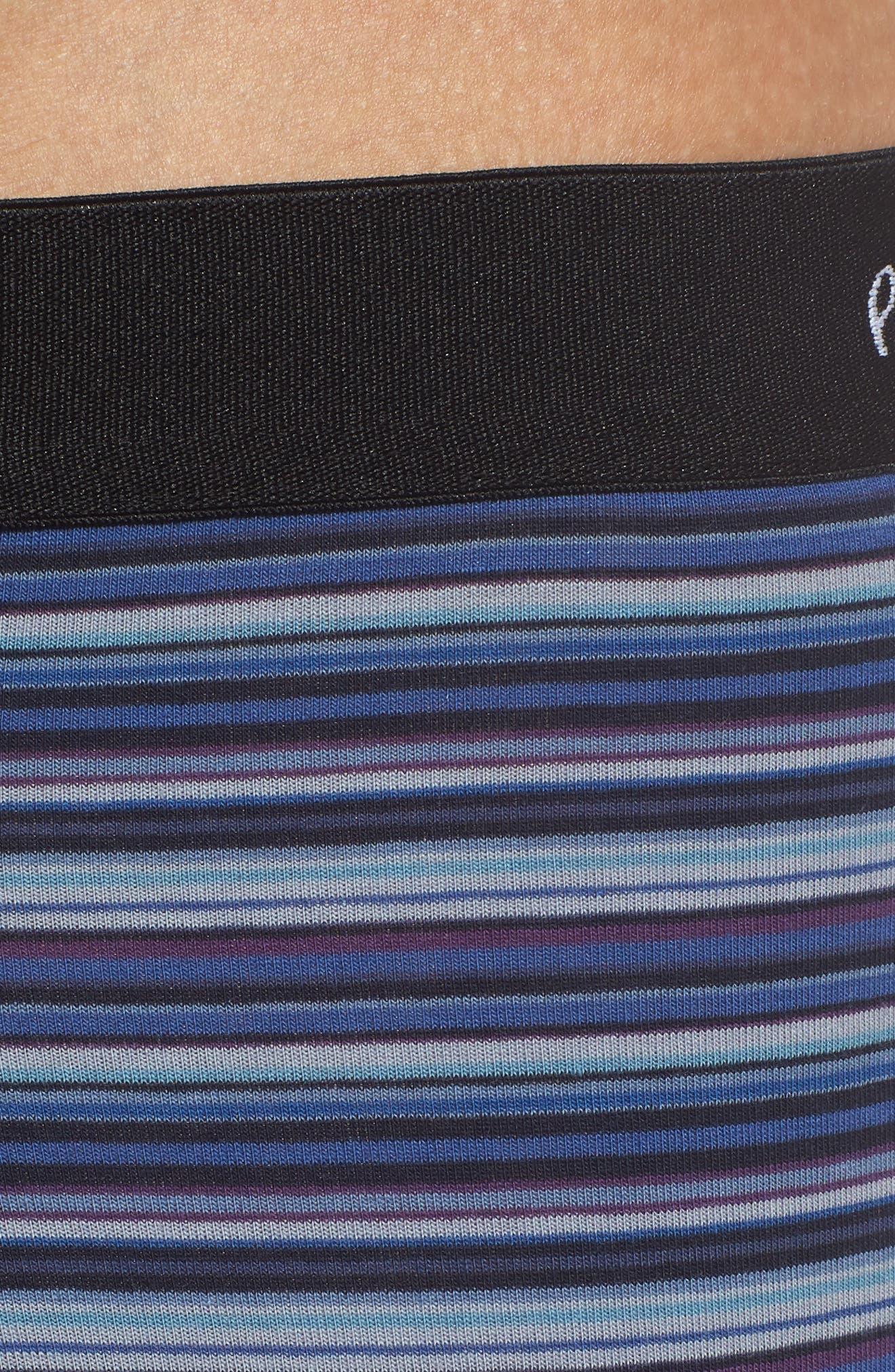Long Leg Stretch Cotton Boxer Briefs,                             Alternate thumbnail 4, color,                             BLUE