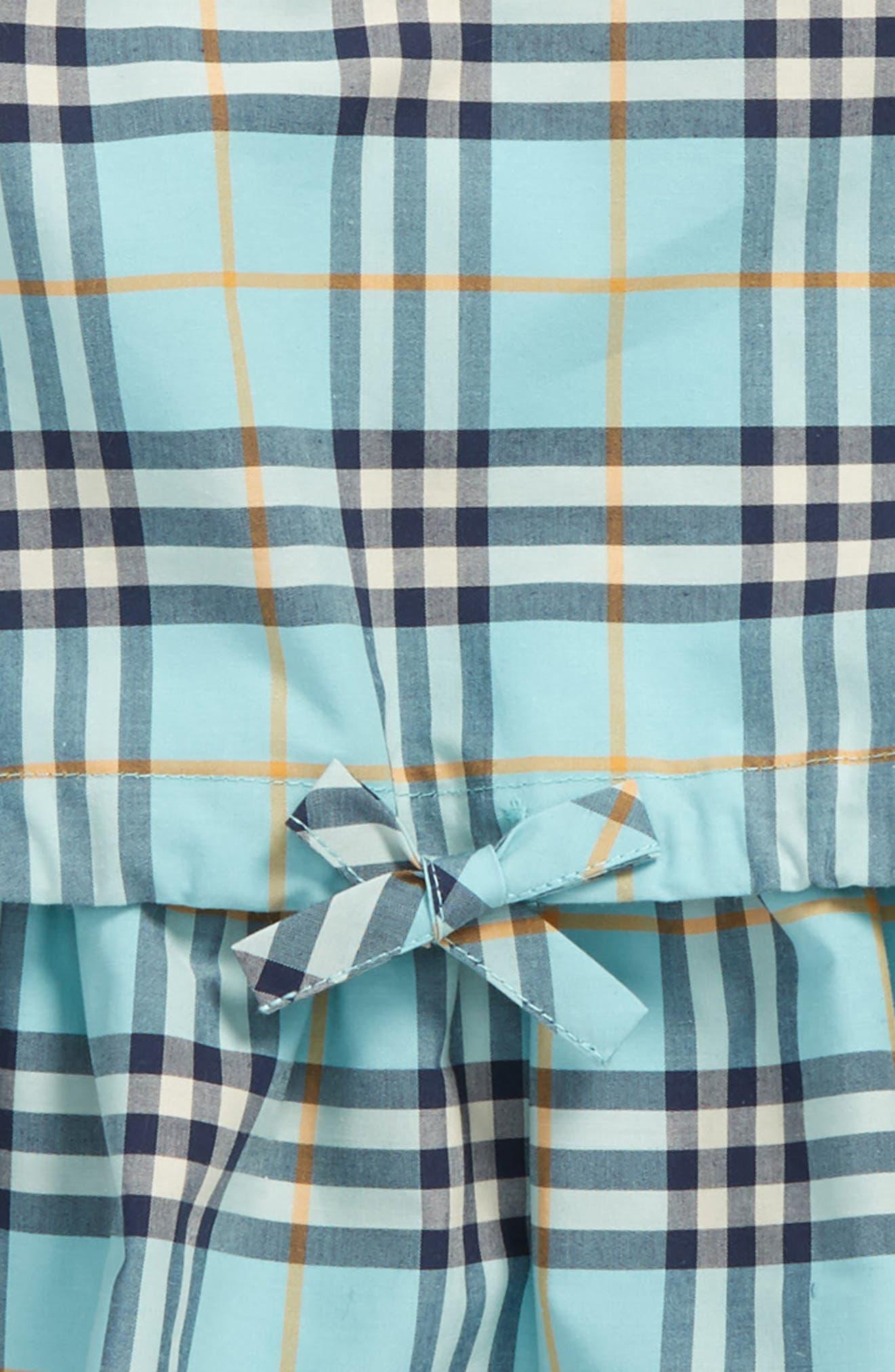 Mabel Check Dress,                             Alternate thumbnail 2, color,                             BRIGHT AQUA