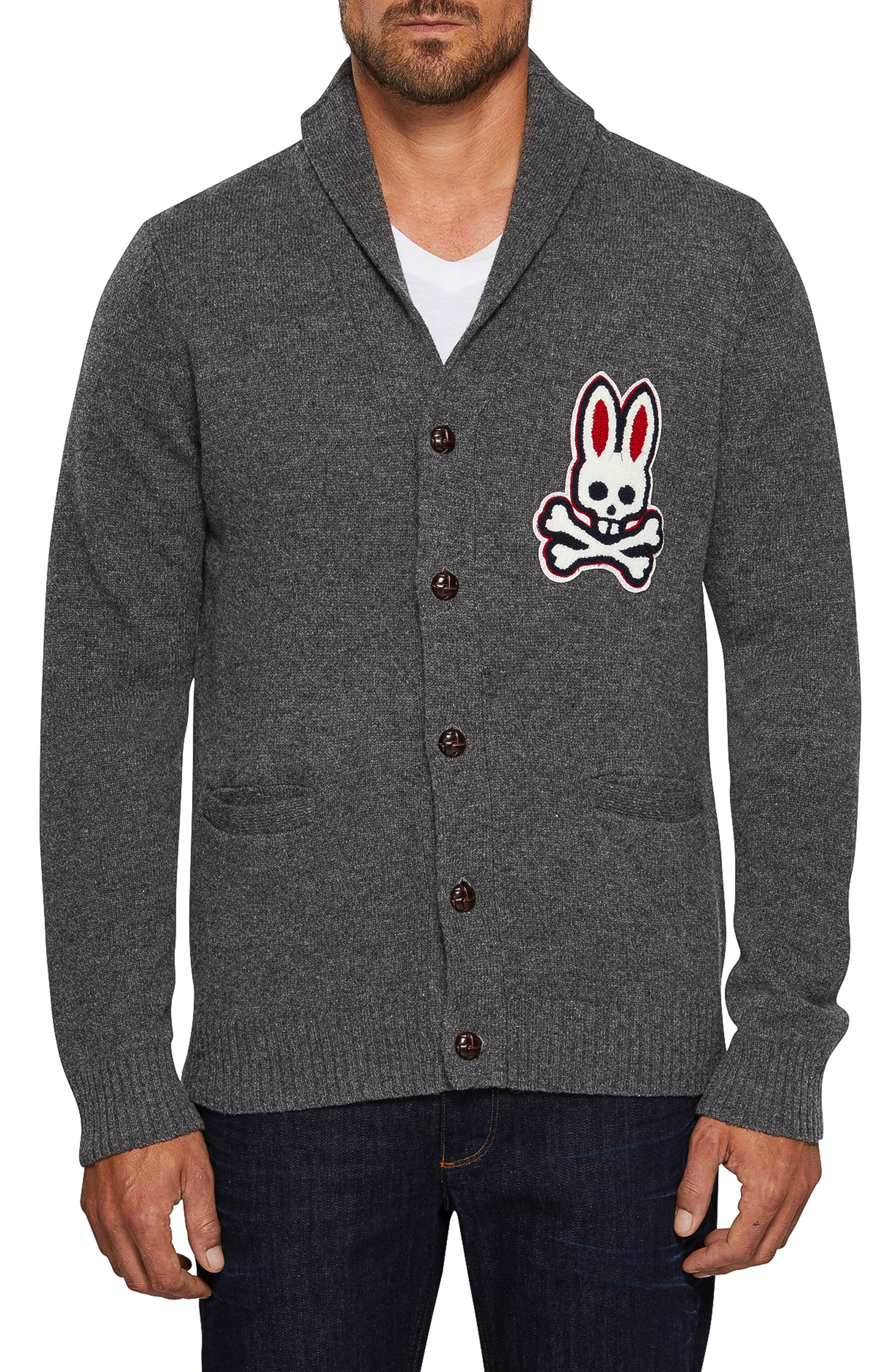 Barnes Shawl Neck Wool Cardigan,                         Main,                         color, GREY