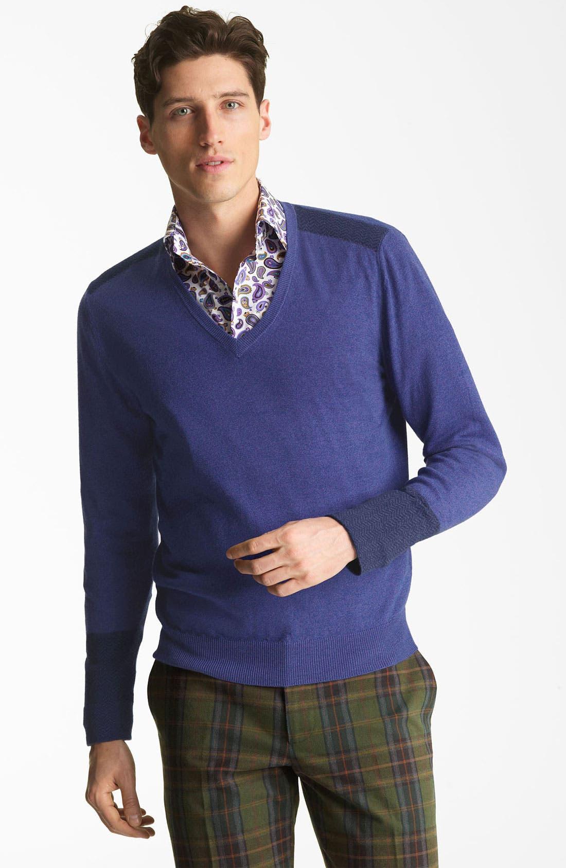 V-Neck Sweater,                             Main thumbnail 1, color,                             400
