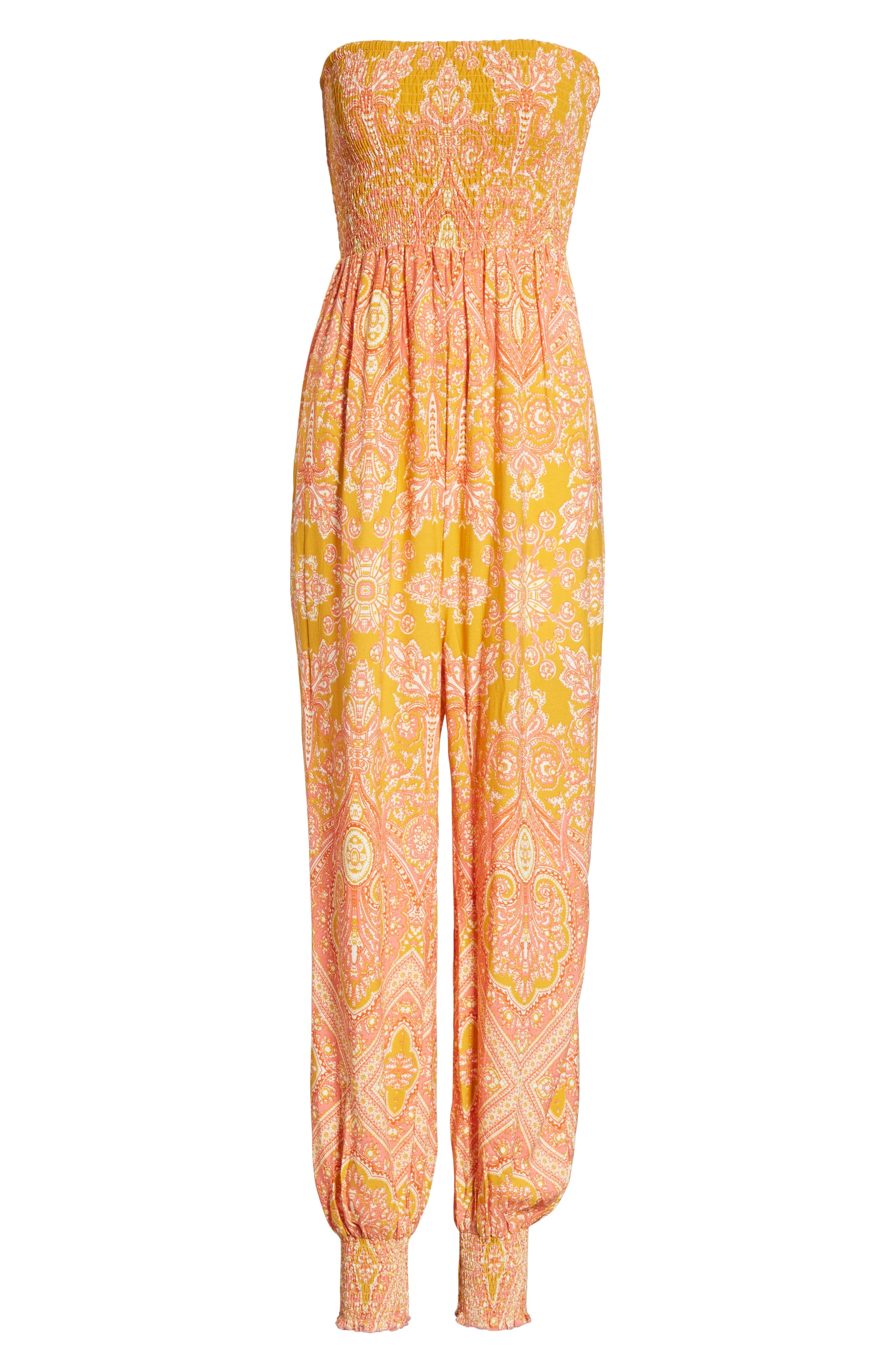 Thinking of You Smocked Jumpsuit,                             Alternate thumbnail 18, color,