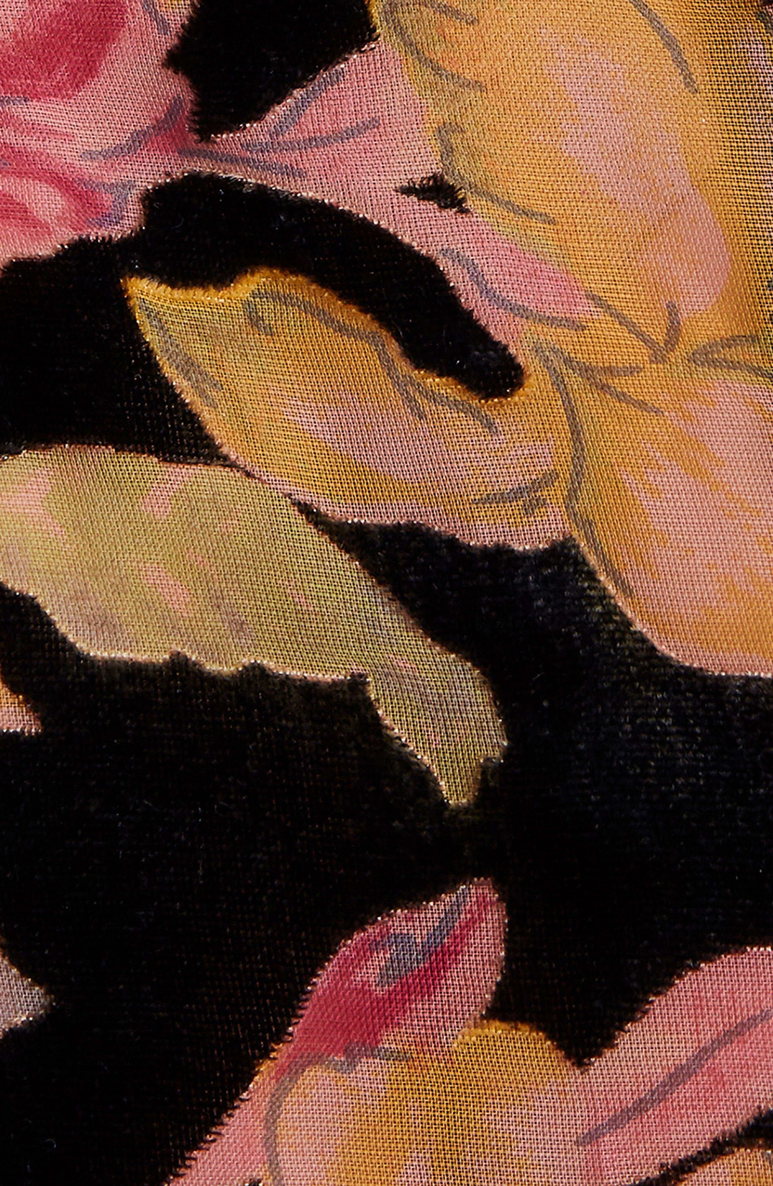 Tokyo Ruffle Wrap Dress,                             Alternate thumbnail 4, color,                             001