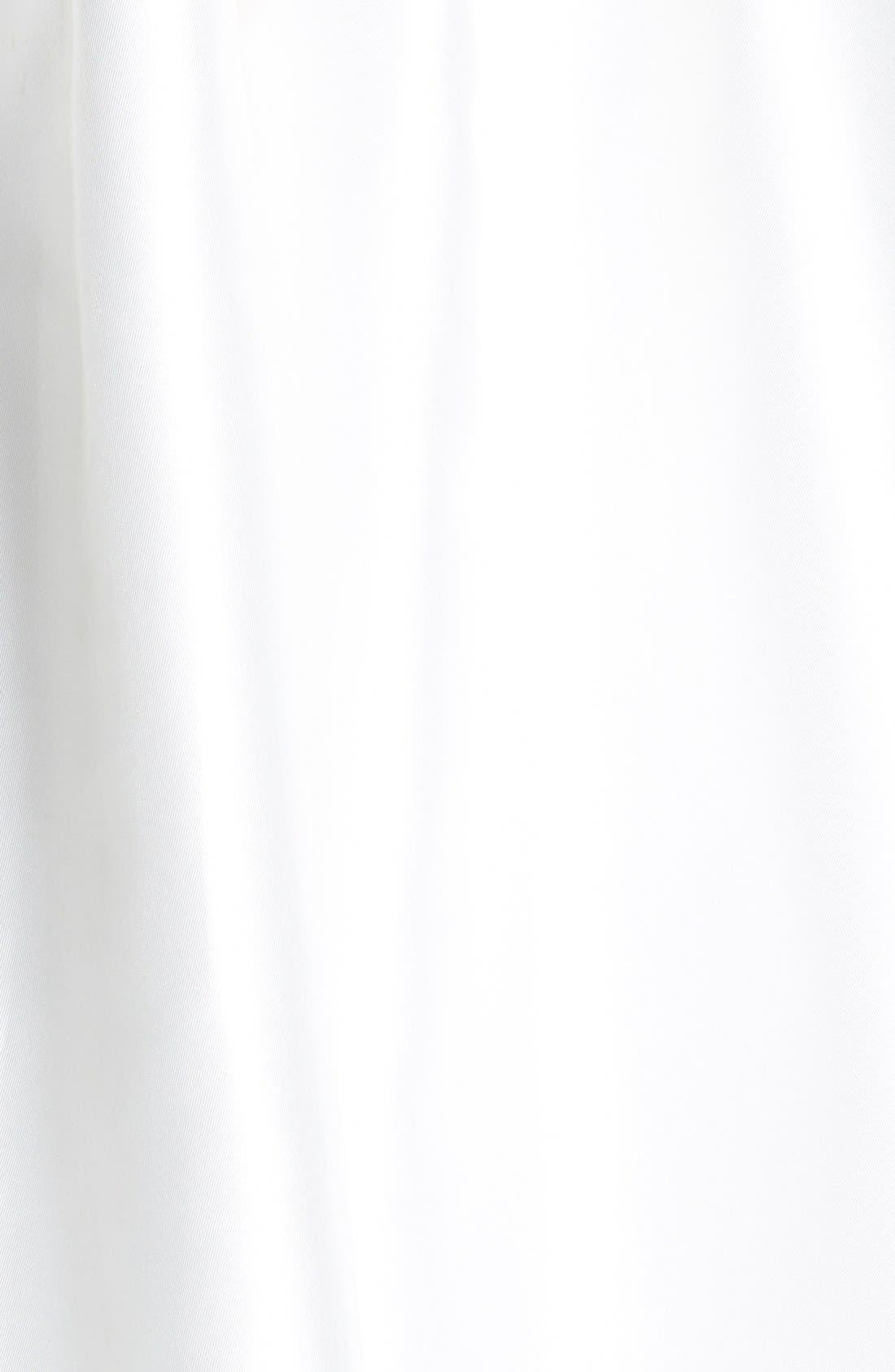 Embellished Waist Mikado A-Line Dress,                             Alternate thumbnail 4, color,                             IVORY
