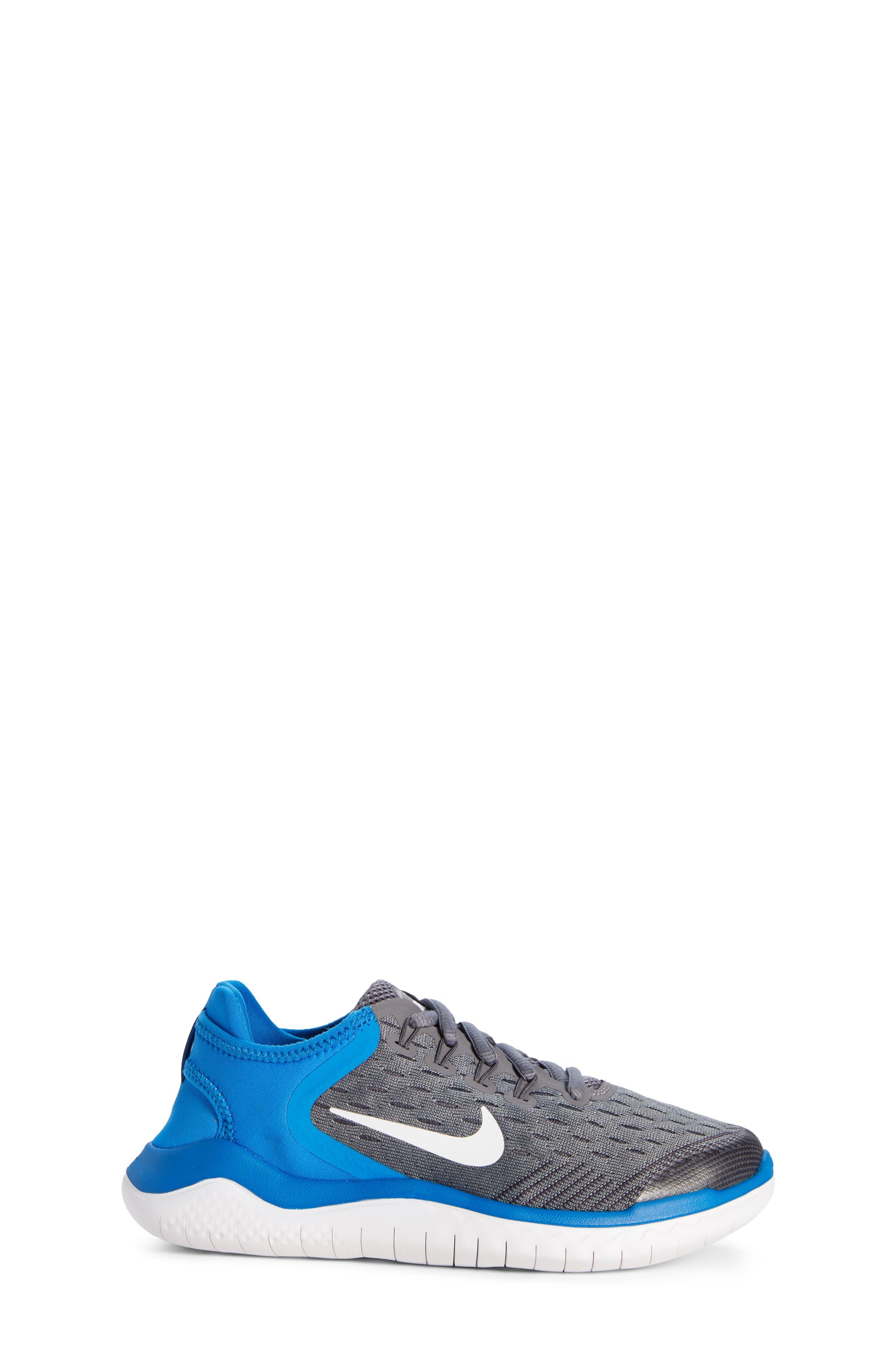 Free RN 2018 Running Shoe,                             Alternate thumbnail 3, color,                             GREY/WHITE/BLUE