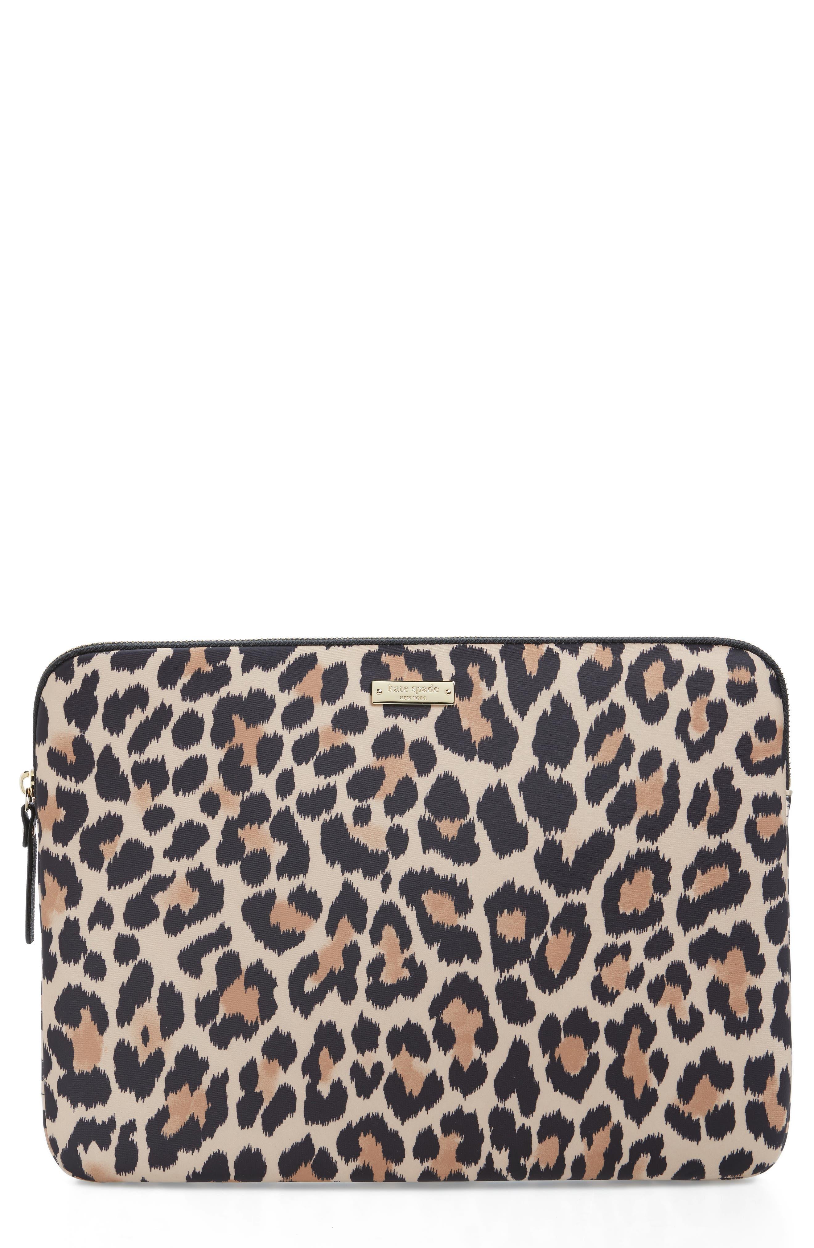 leopard 13-Inch laptop sleeve,                             Main thumbnail 1, color,                             200