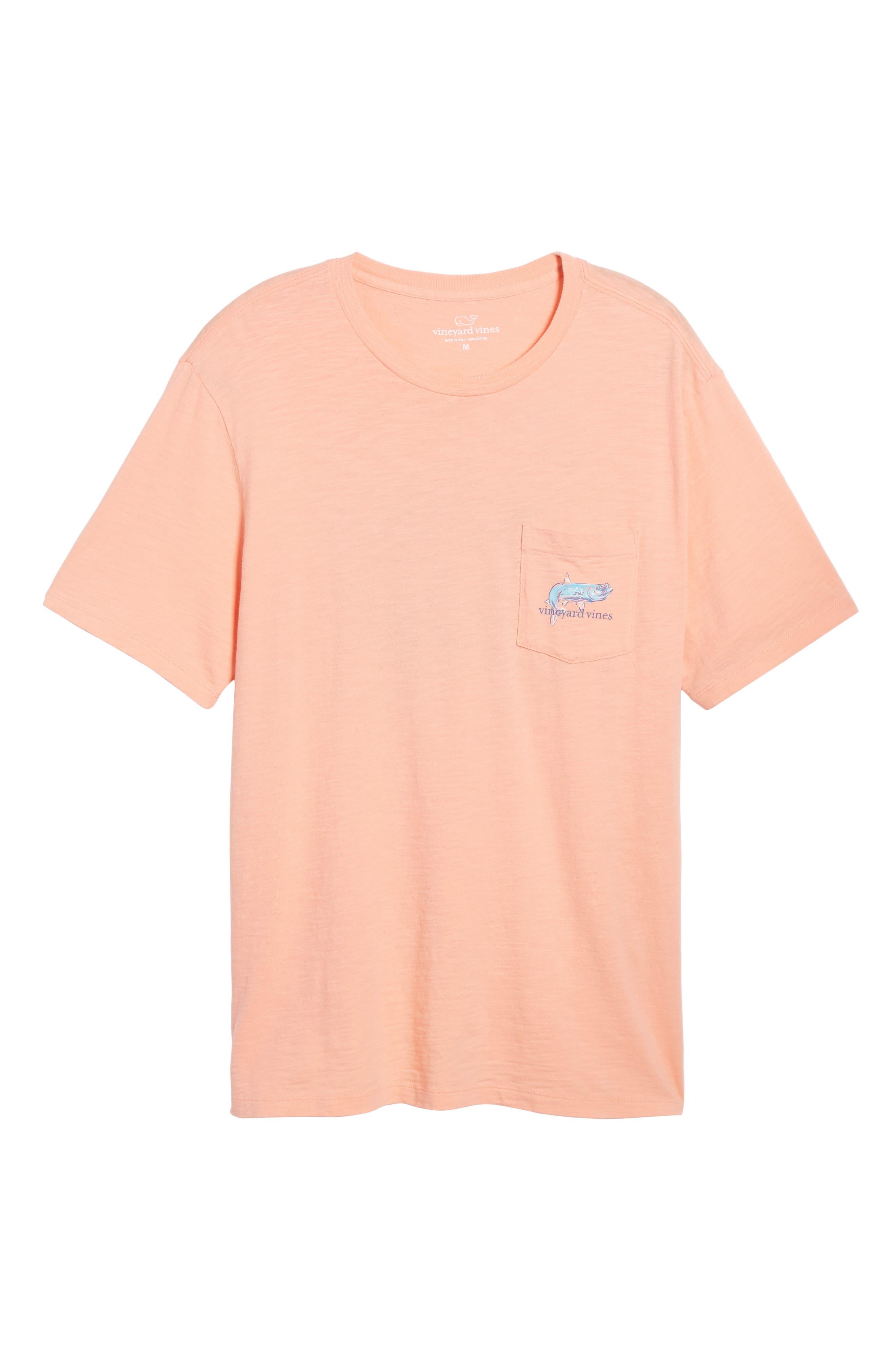 Painted Tarpon Graphic Pocket T-Shirt,                             Alternate thumbnail 6, color,                             821