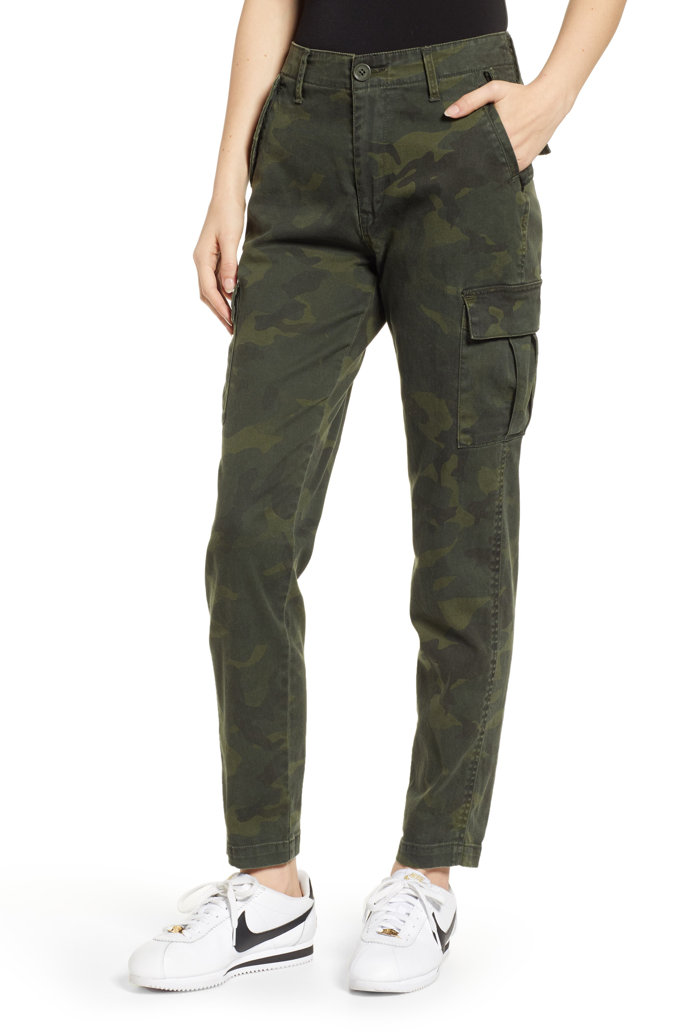 Union Bay Garner Camouflage Cargo Pants, Green
