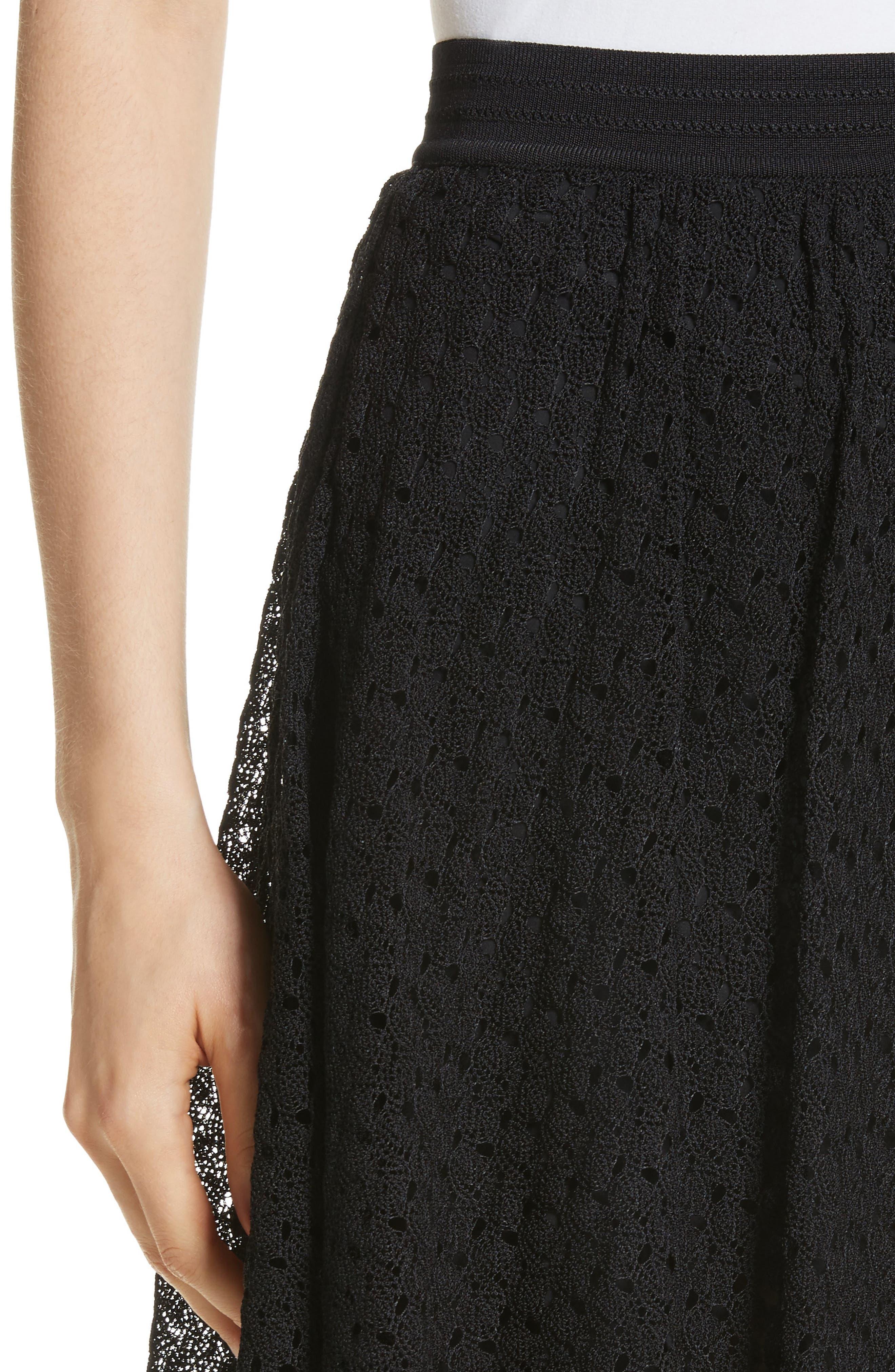 Knit Miniskirt,                             Alternate thumbnail 4, color,