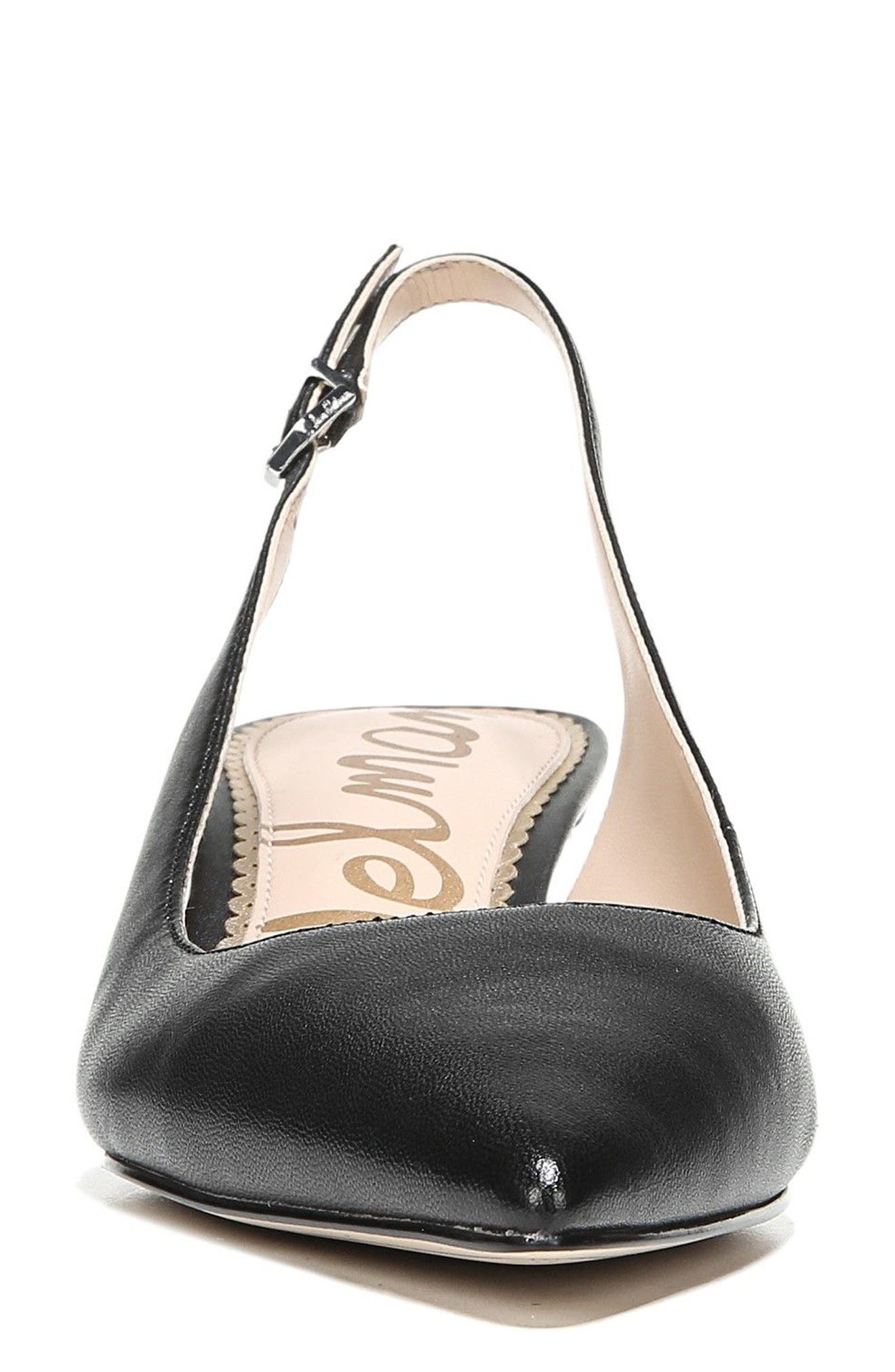 Ludlow Slingback Pump,                             Alternate thumbnail 4, color,                             BLACK LEATHER