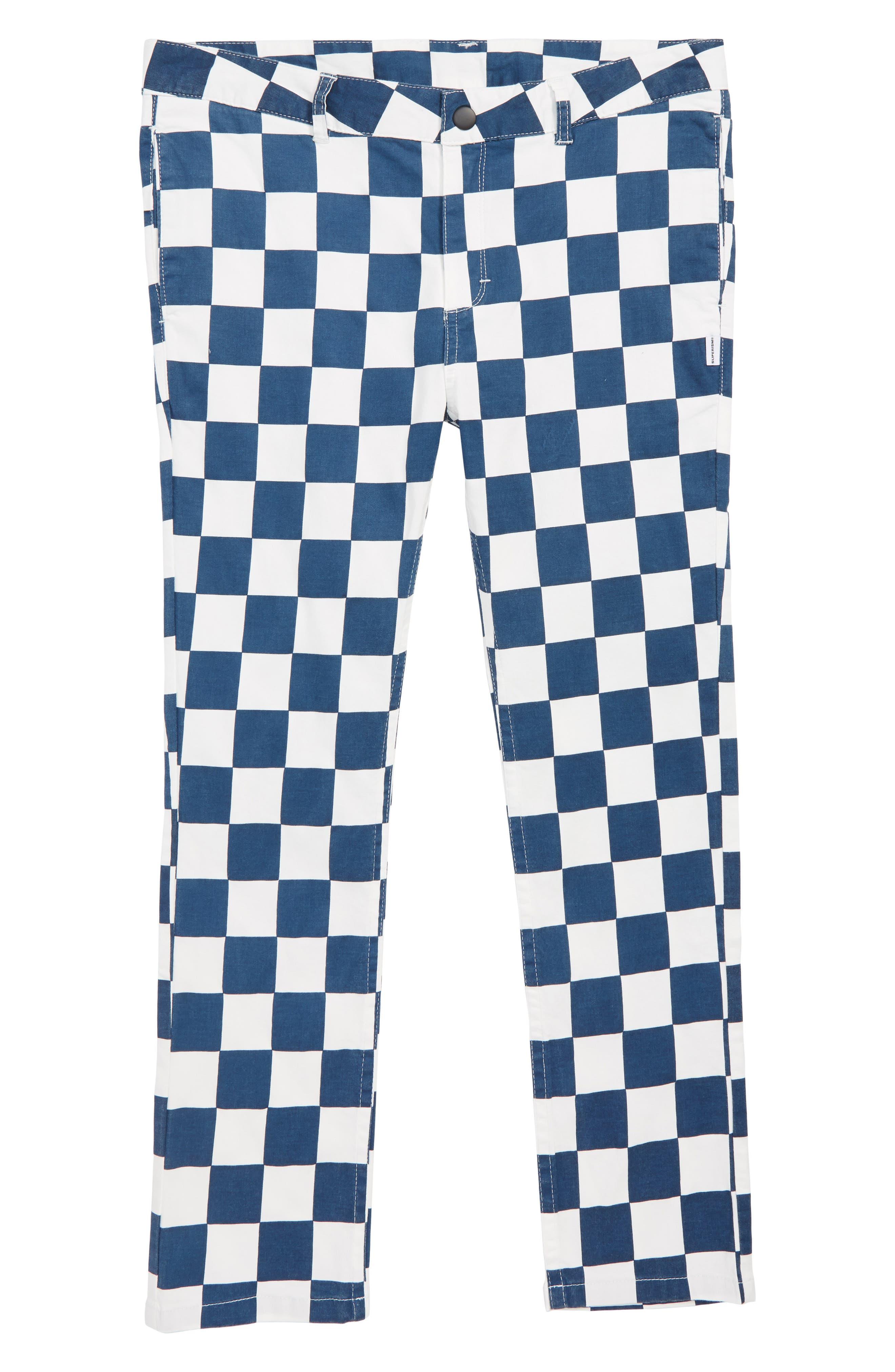 BO Checkerboard Pants,                         Main,                         color, NAVY