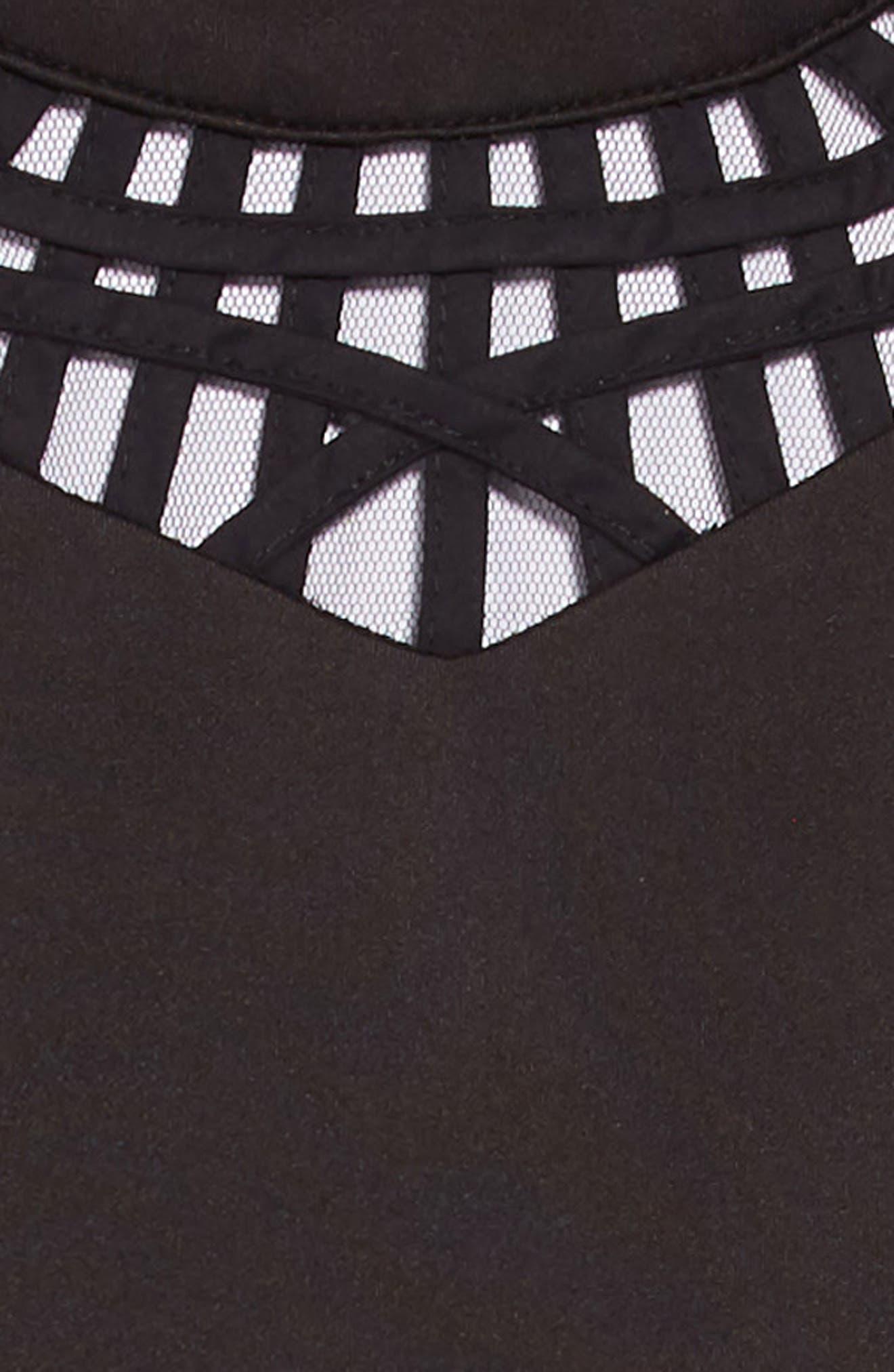 Scuba Dress with Detail,                             Alternate thumbnail 3, color,                             001