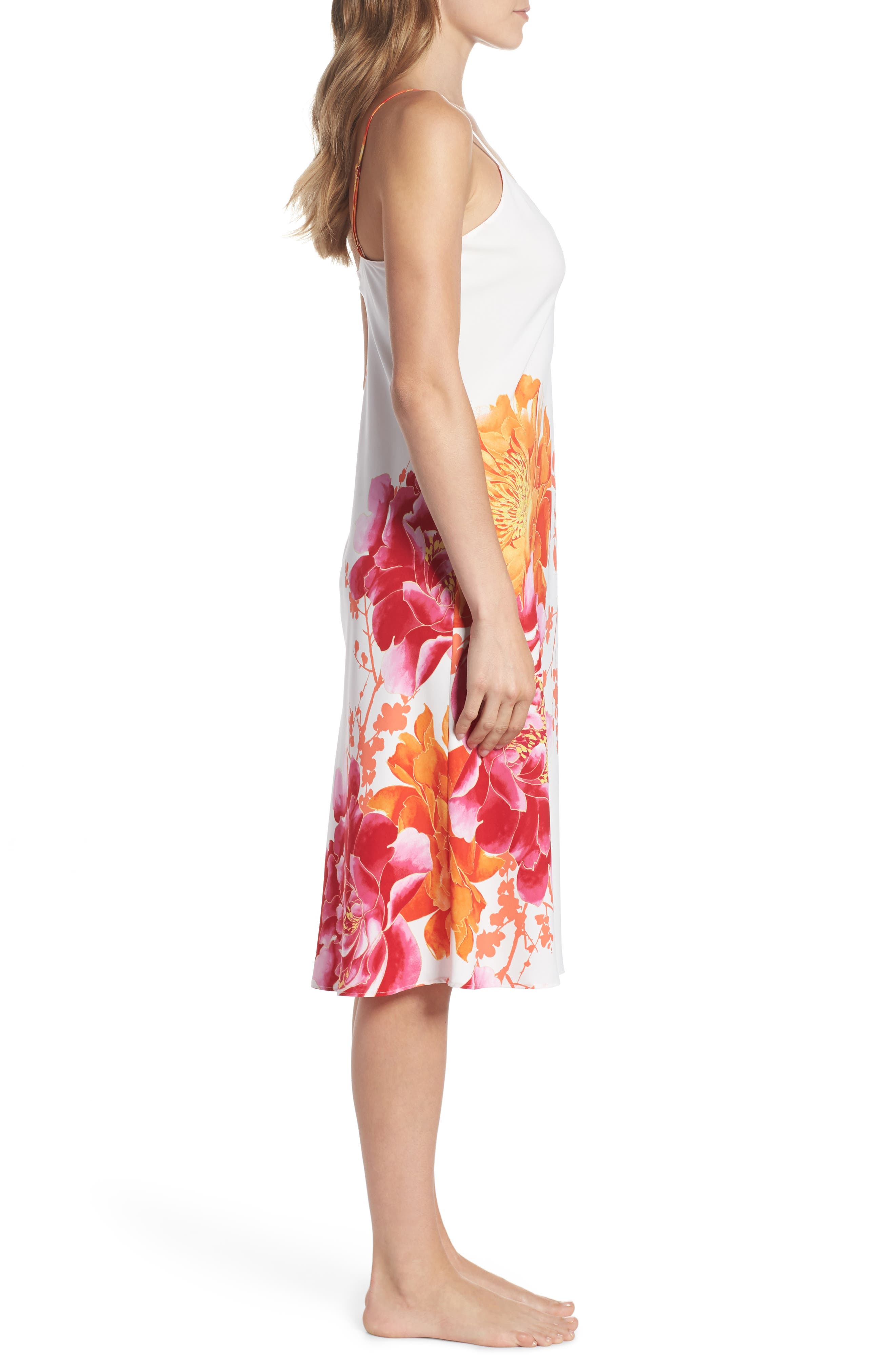 Bali Floral Print Slip,                             Alternate thumbnail 3, color,                             100