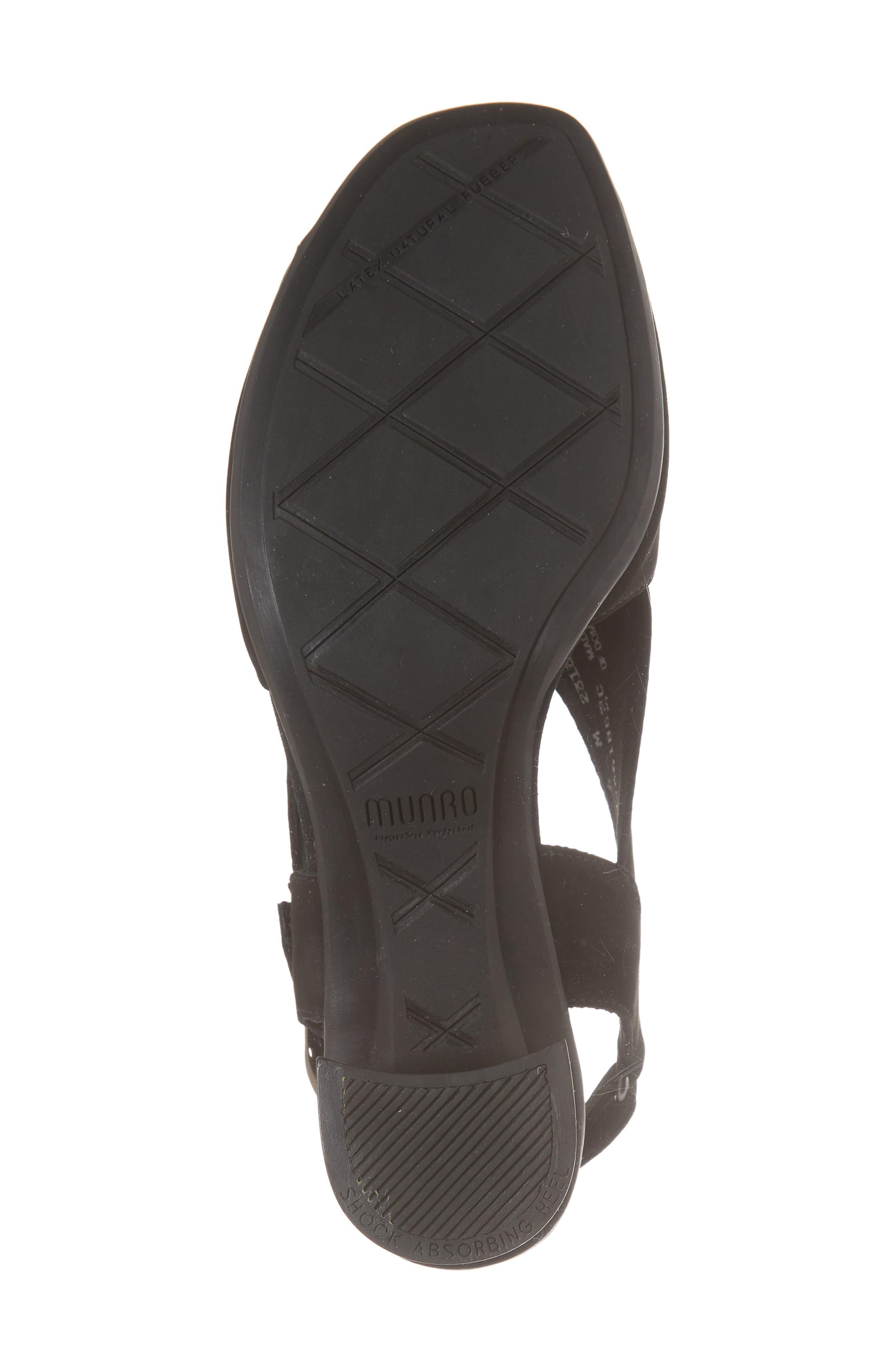 Laine Block Heel Sandal,                             Alternate thumbnail 6, color,                             BLACK NUBUCK LEATHER