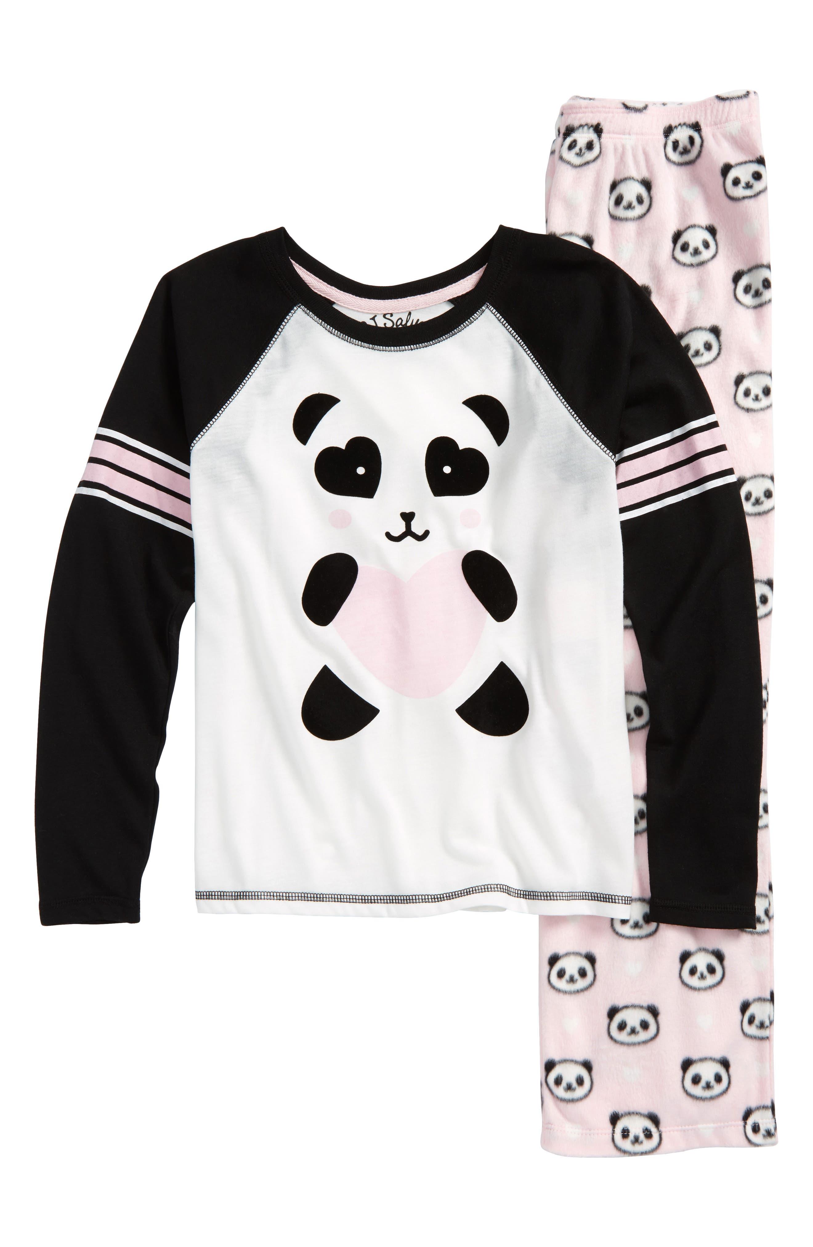 Panda Monium Two-Piece Pajamas,                             Main thumbnail 1, color,                             650