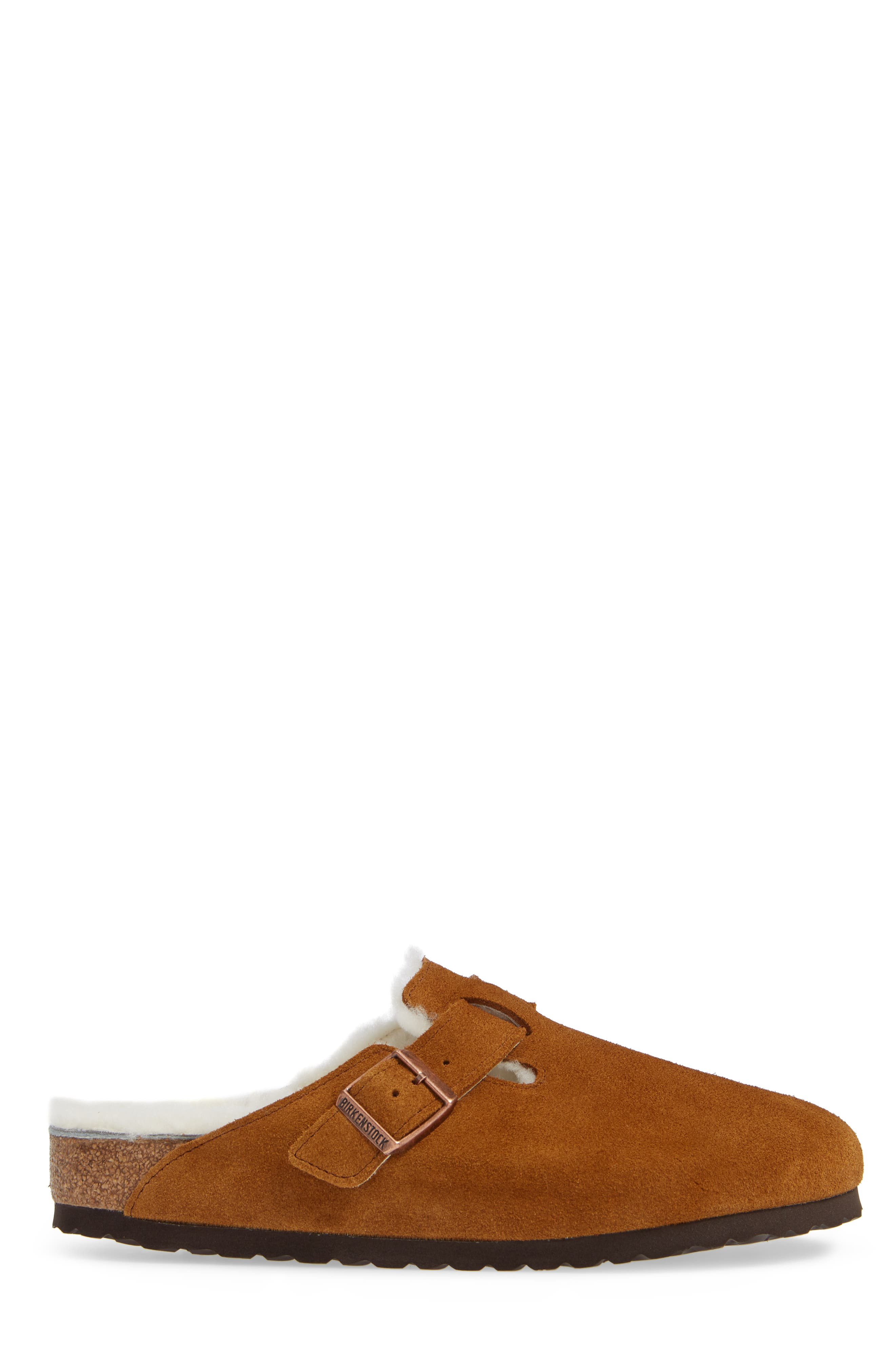 Boston Slip-On with Genuine Shearling Lining,                             Alternate thumbnail 3, color,                             BEIGE
