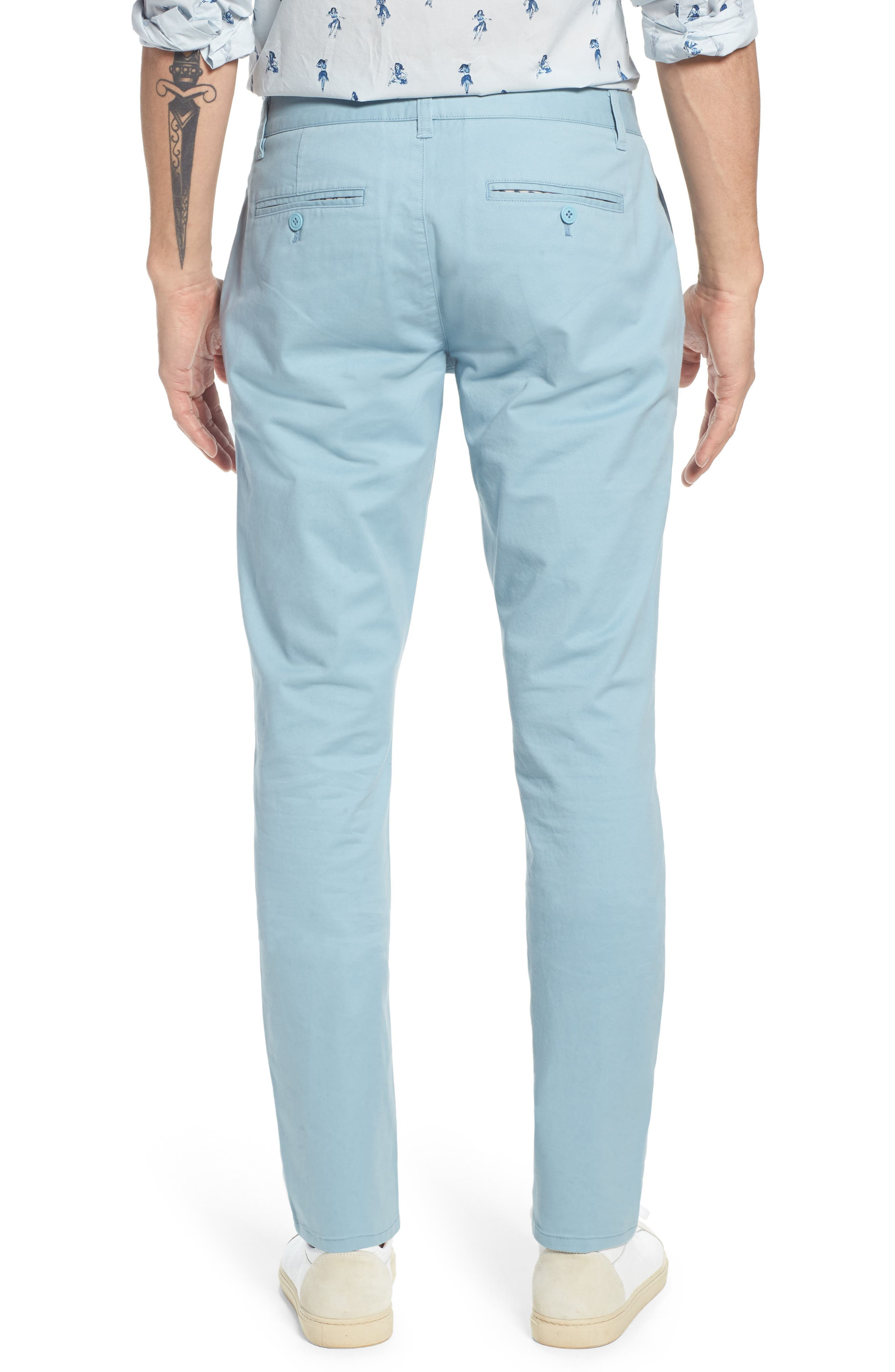Tailored Fit Washed Stretch Cotton Chinos,                             Alternate thumbnail 50, color,