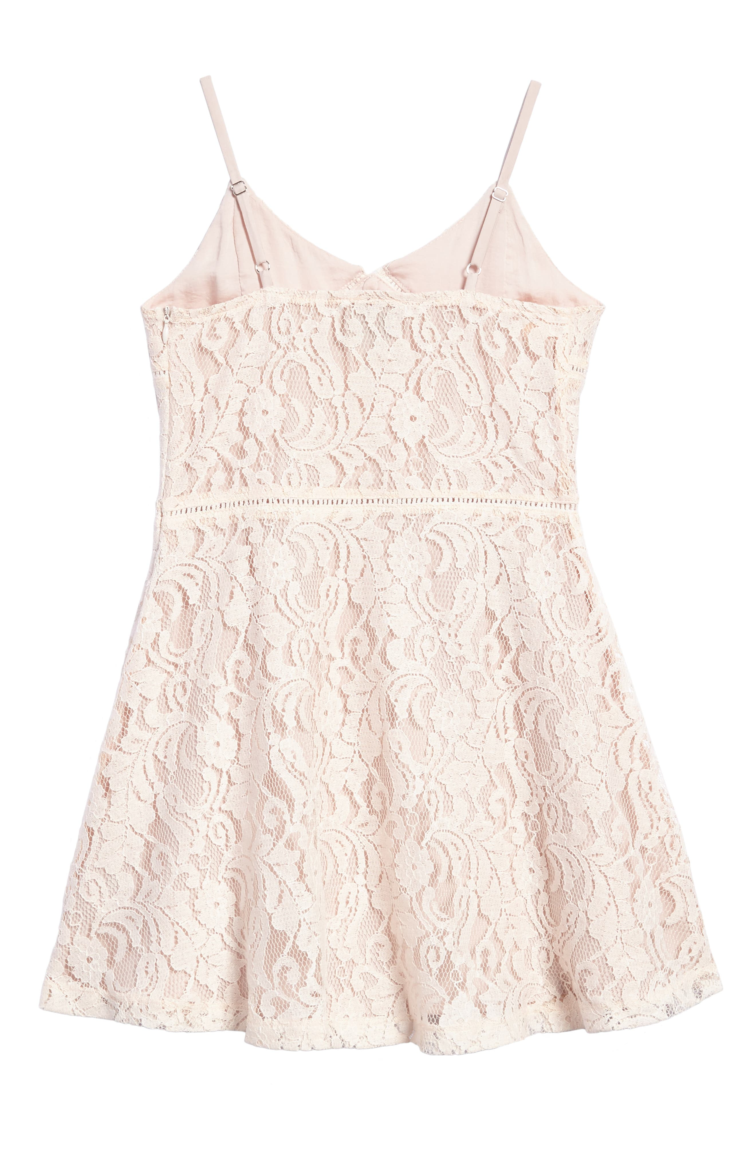 Lace Overlay Sundress,                             Alternate thumbnail 2, color,                             950