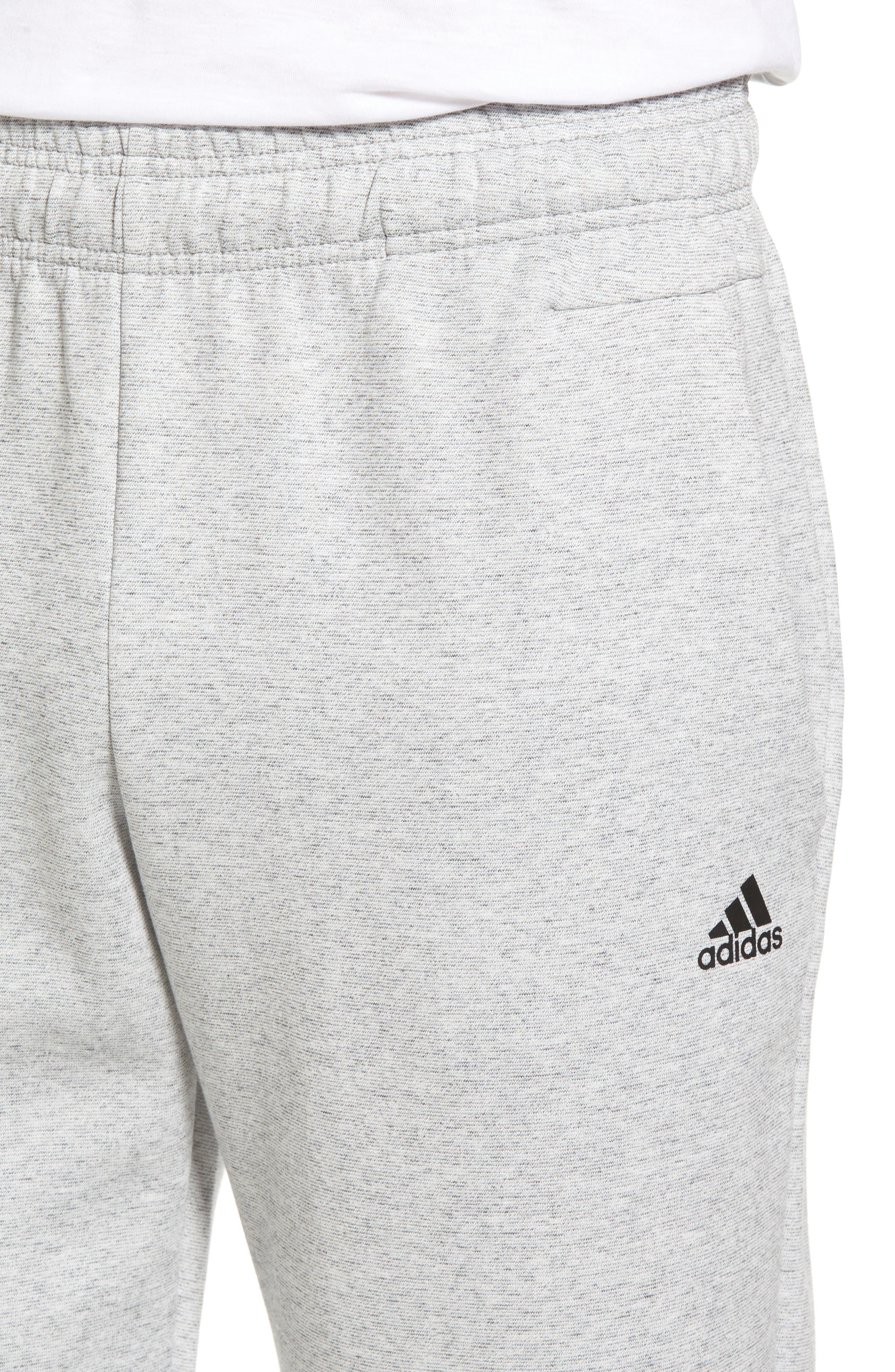 ID Stadium Knit Pants,                             Alternate thumbnail 4, color,                             STADIUM HEATHER/ BLACK