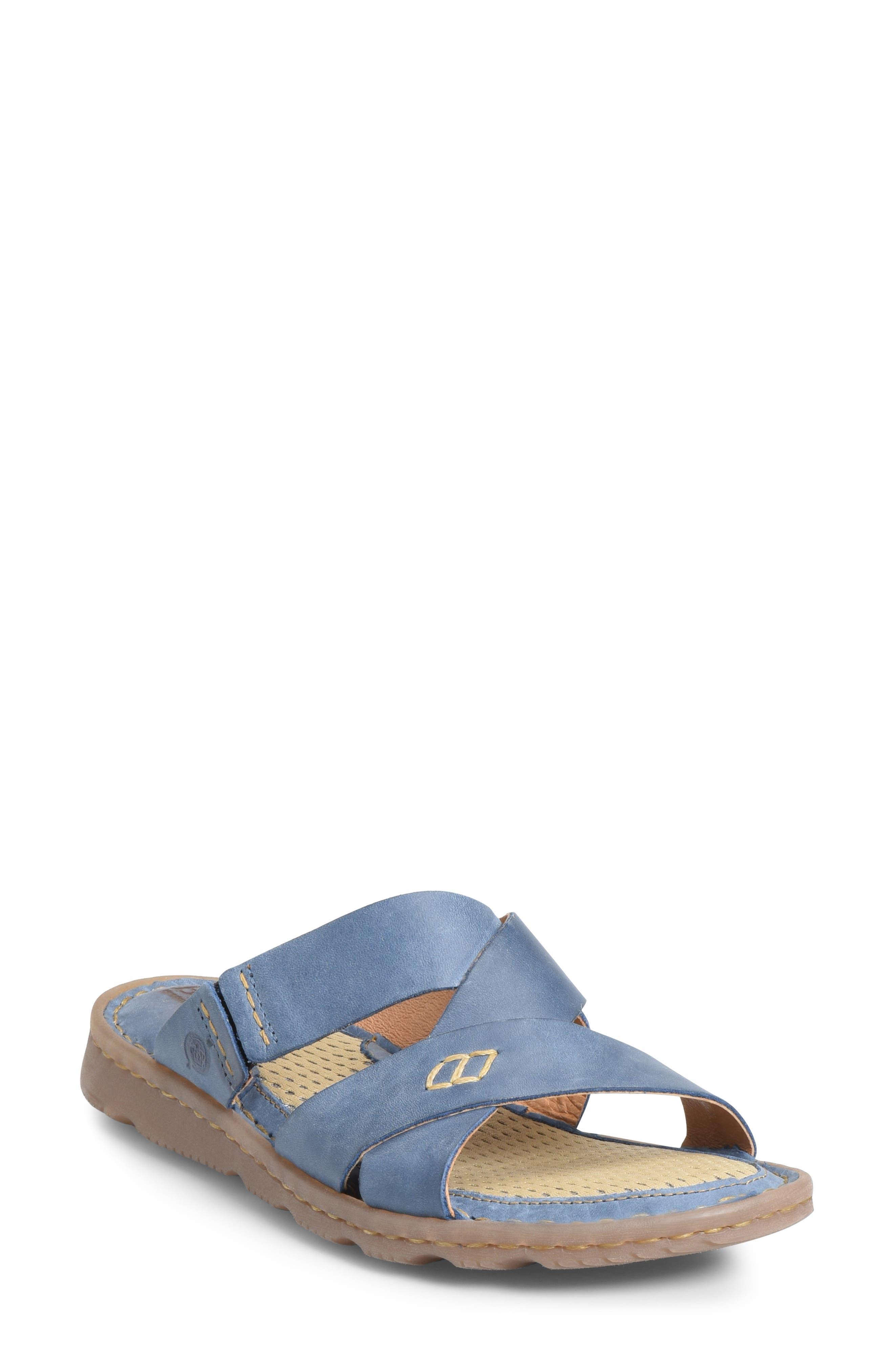 B?rn Hayka Asymmetrical Slide Sandal, Blue