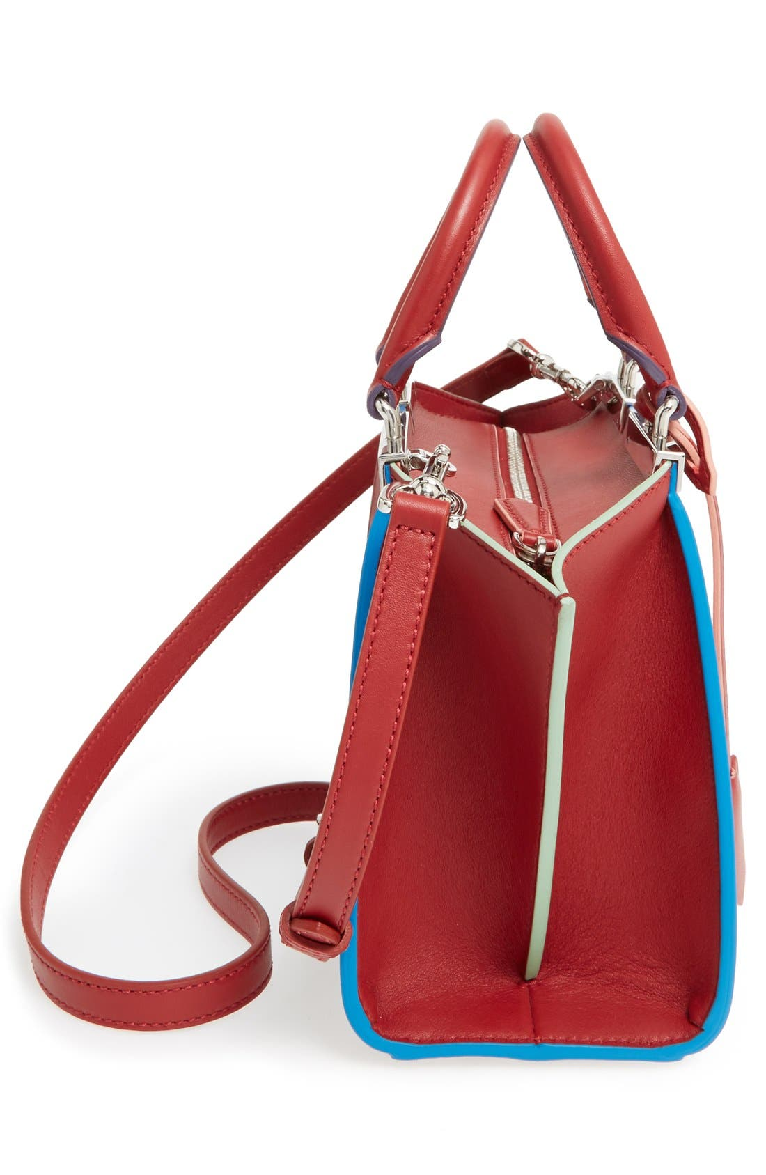 'Mini 3Jours' Calfskin Leather Shopper,                             Alternate thumbnail 18, color,