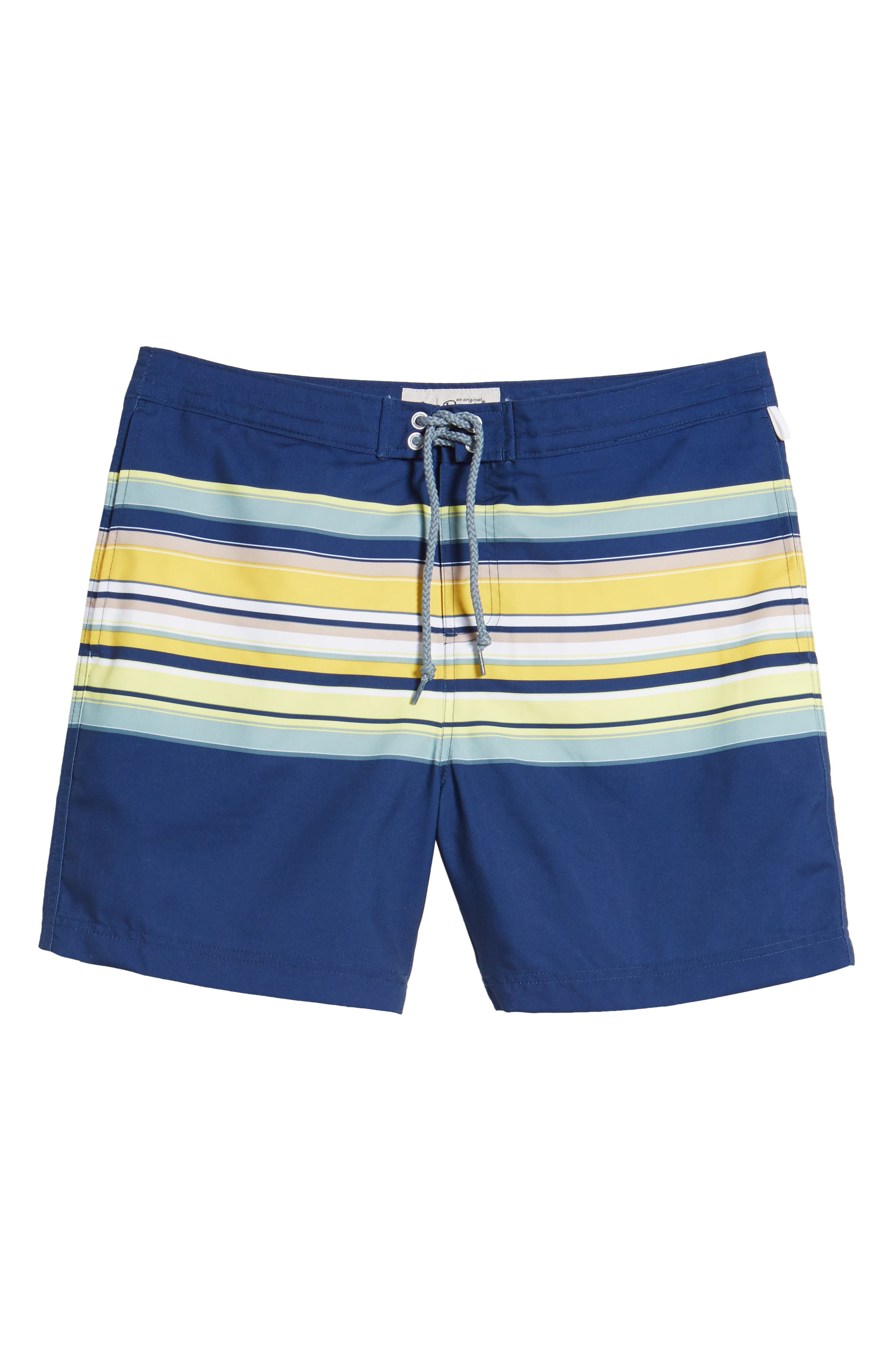 Stripe Fixed Volley Board Shorts,                             Alternate thumbnail 6, color,                             469