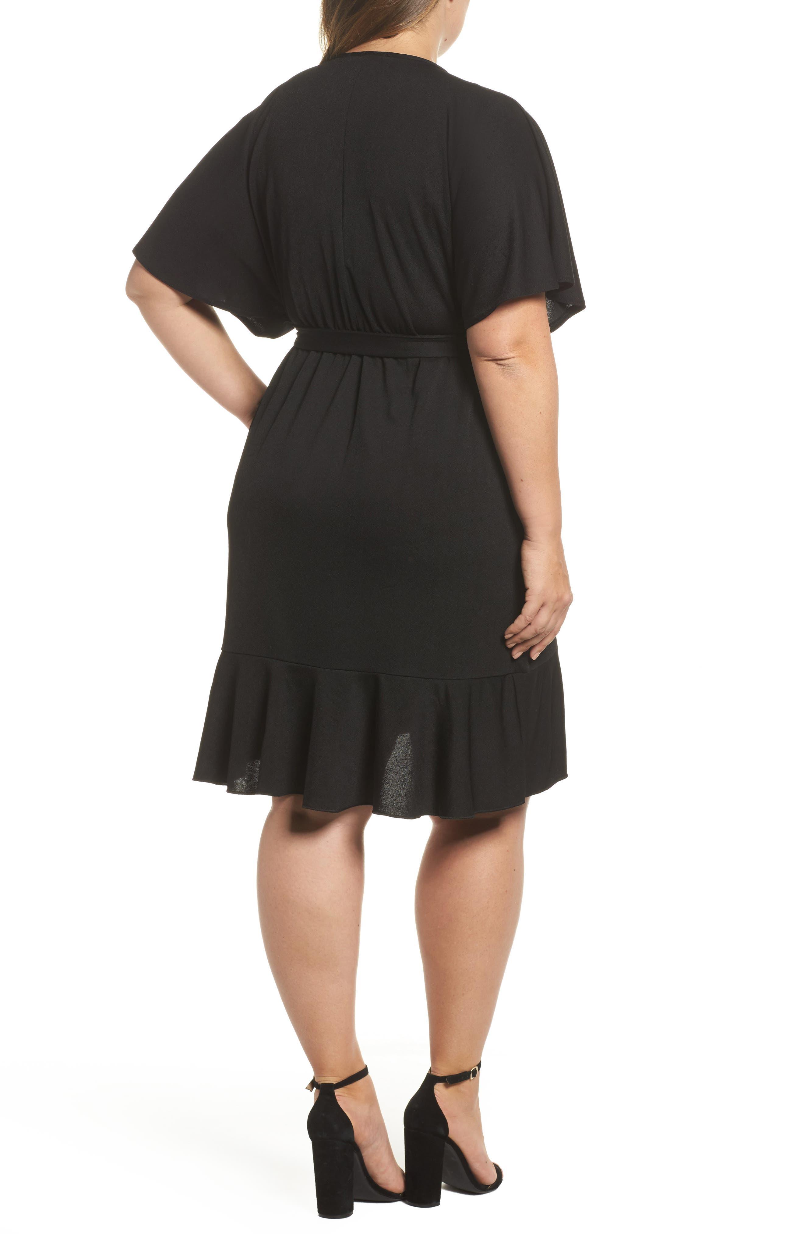 Flutter Sleeve Wrap Dress,                             Alternate thumbnail 2, color,