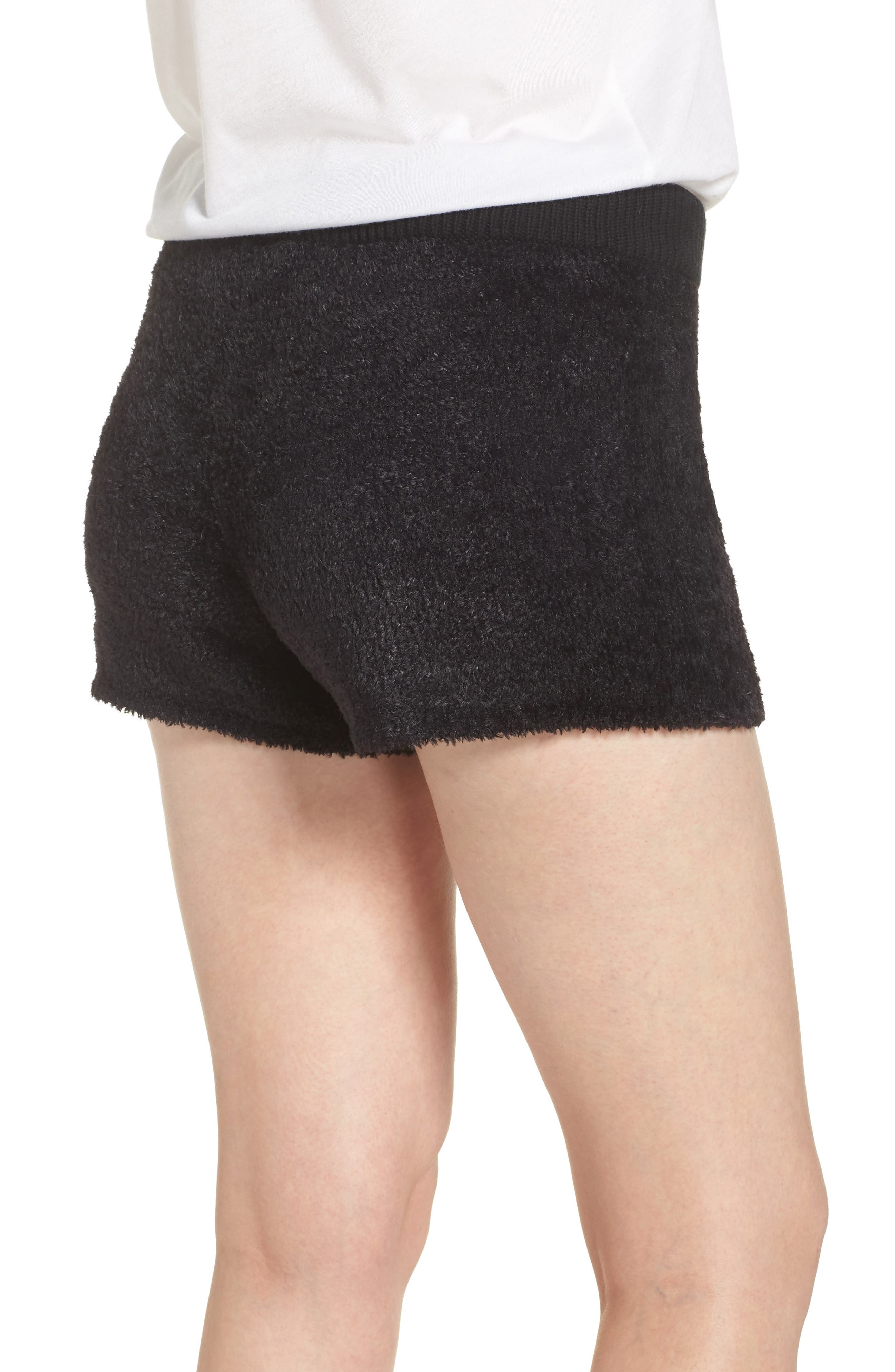 Fuzzy Lounge Shorts,                             Alternate thumbnail 2, color,                             BLACK