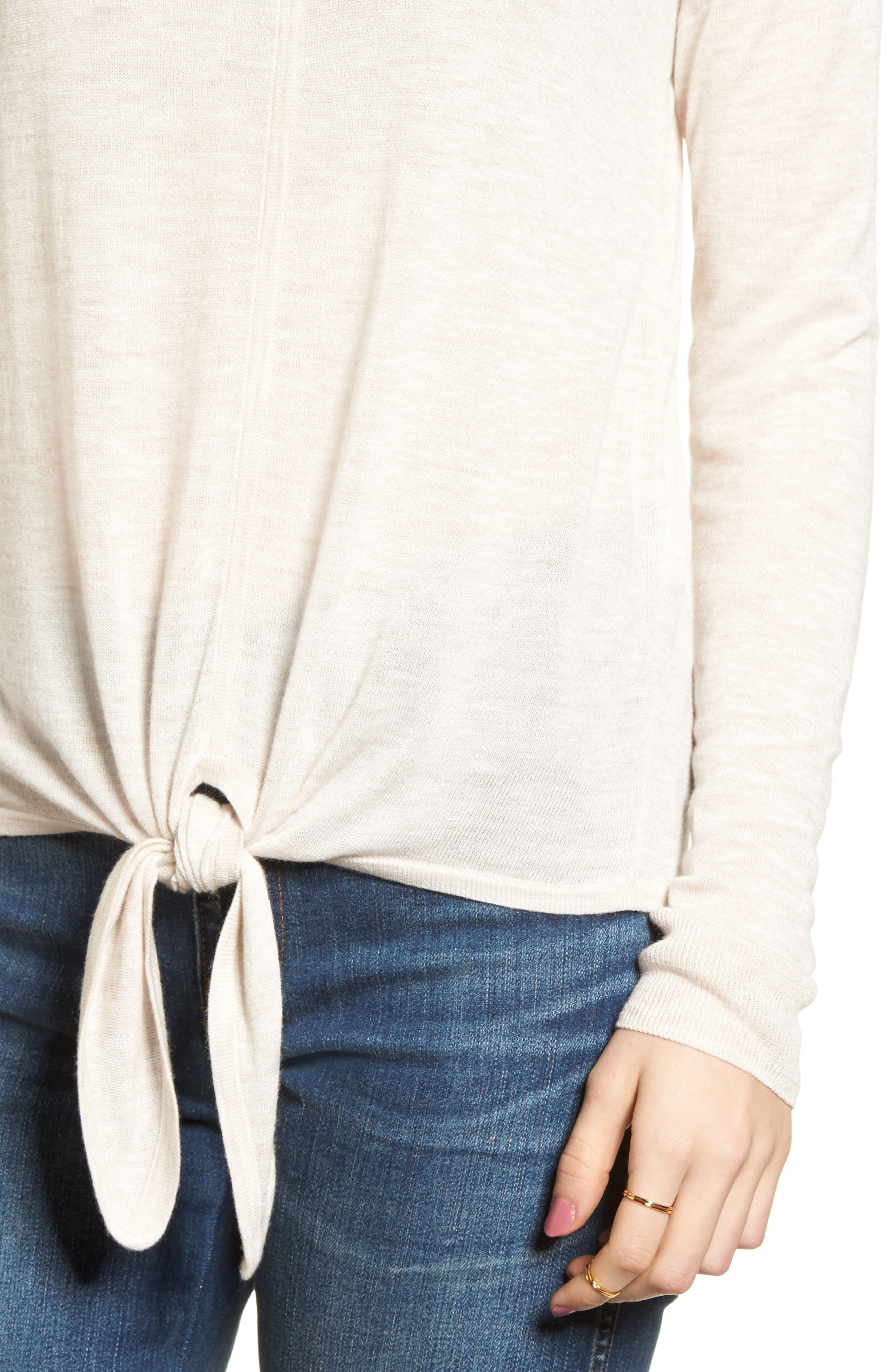 Modern Tie Front Sweater,                             Alternate thumbnail 13, color,