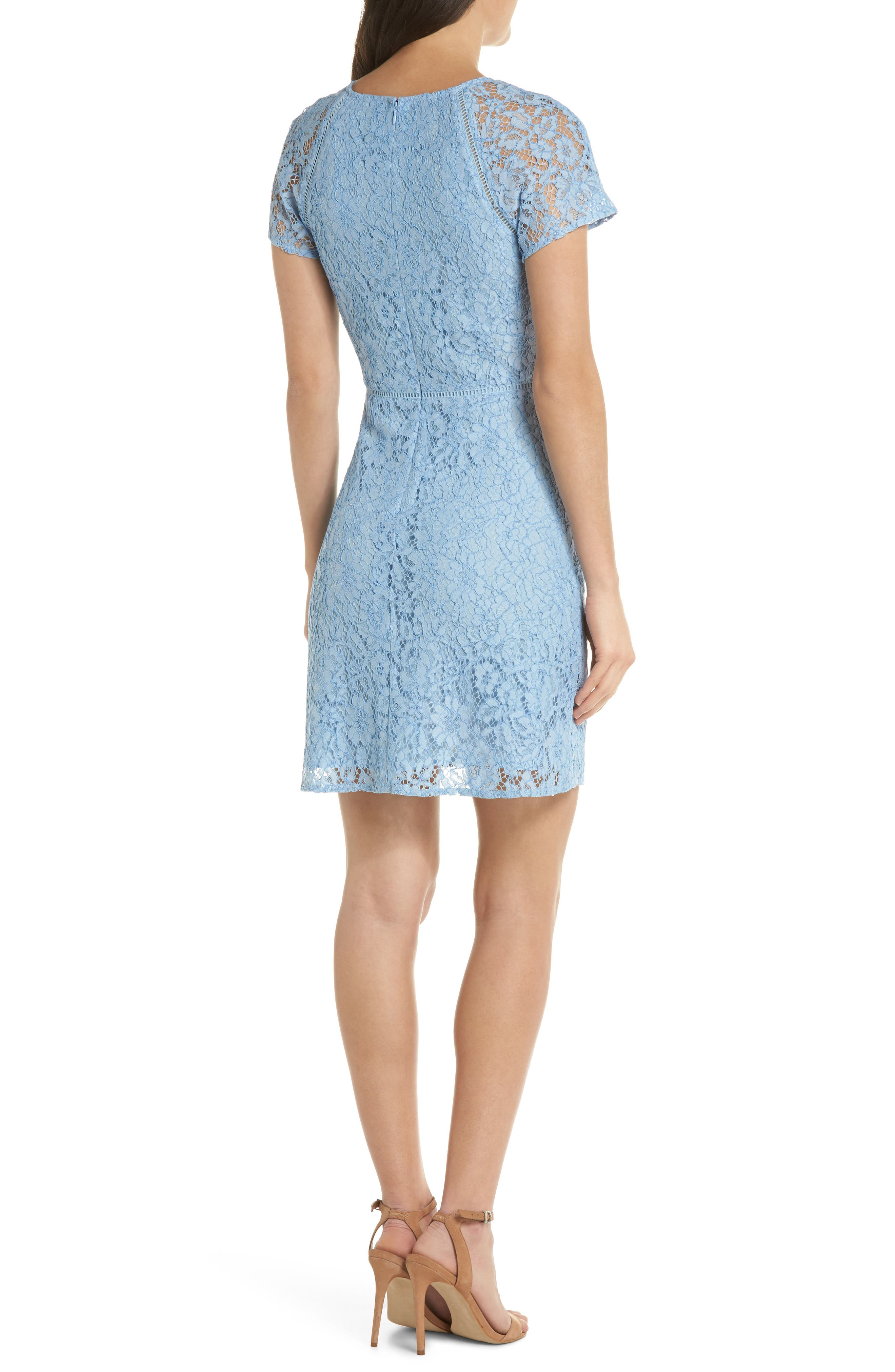 Raglan Sleeve Lace Dress,                             Alternate thumbnail 2, color,                             400
