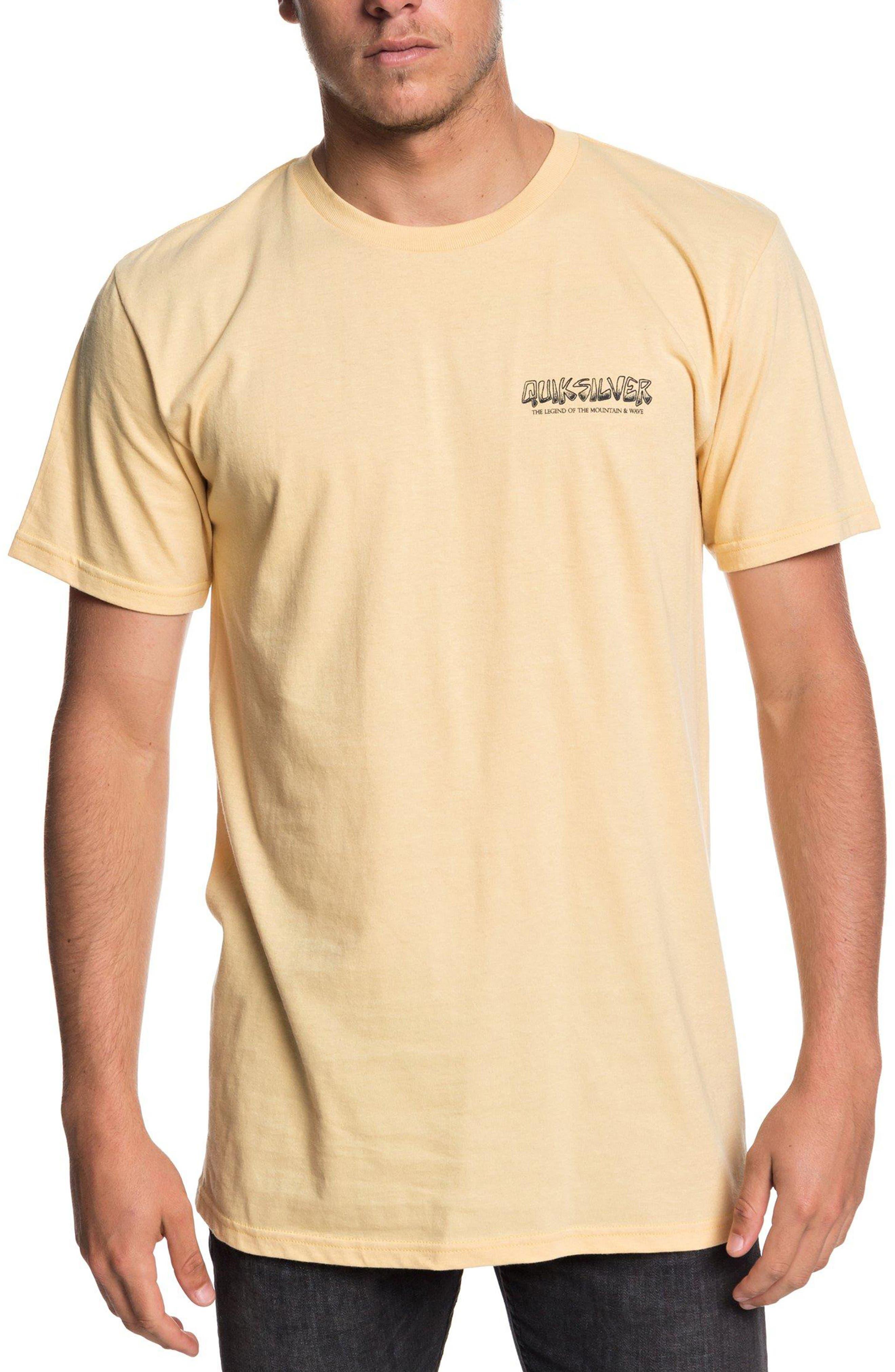 QUIKSILVER Og Mountain & Wave Graphic T-Shirt in Sahara Sun