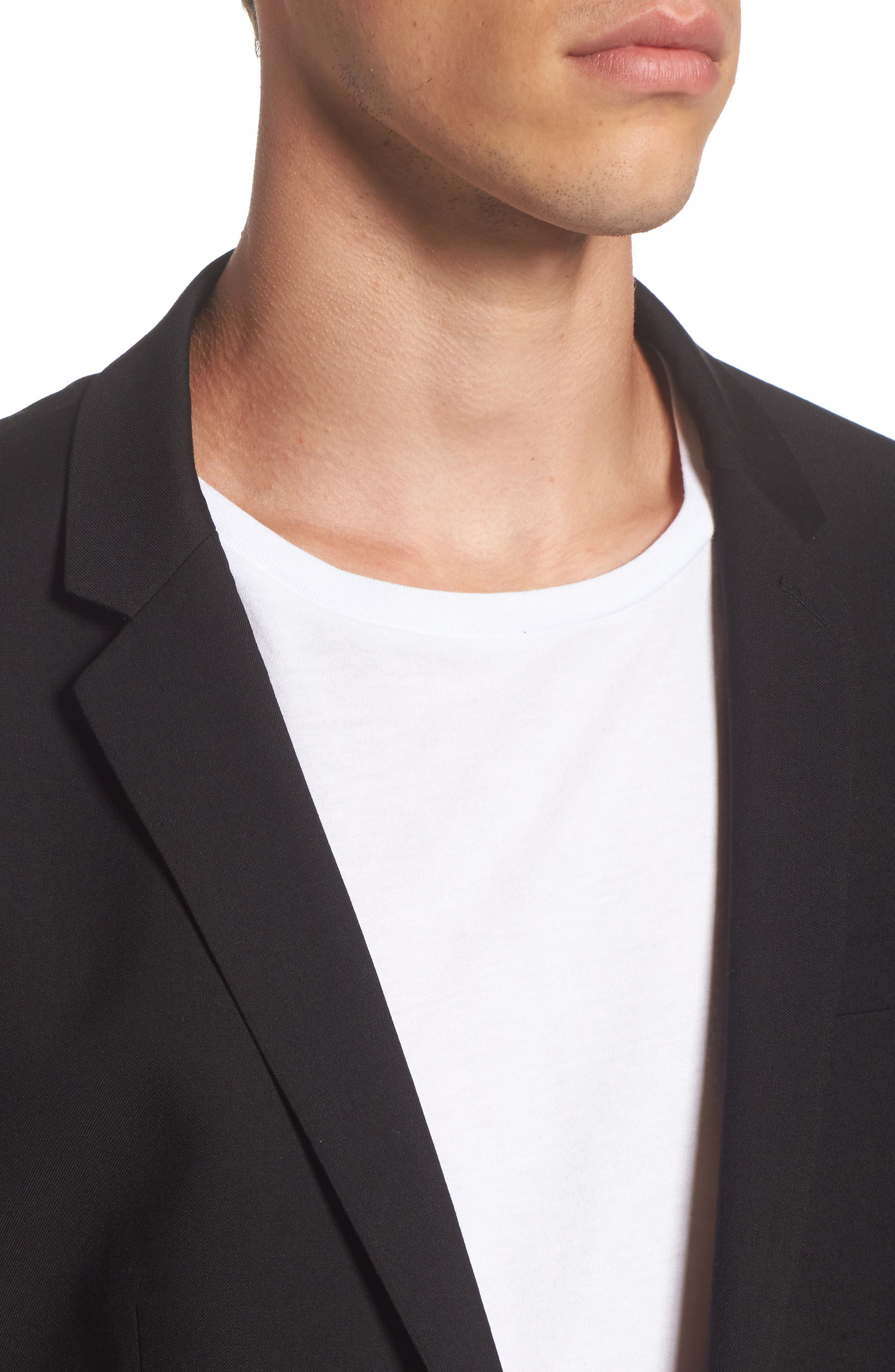 Ultra Skinny Black Suit Jacket,                             Alternate thumbnail 5, color,                             BLACK