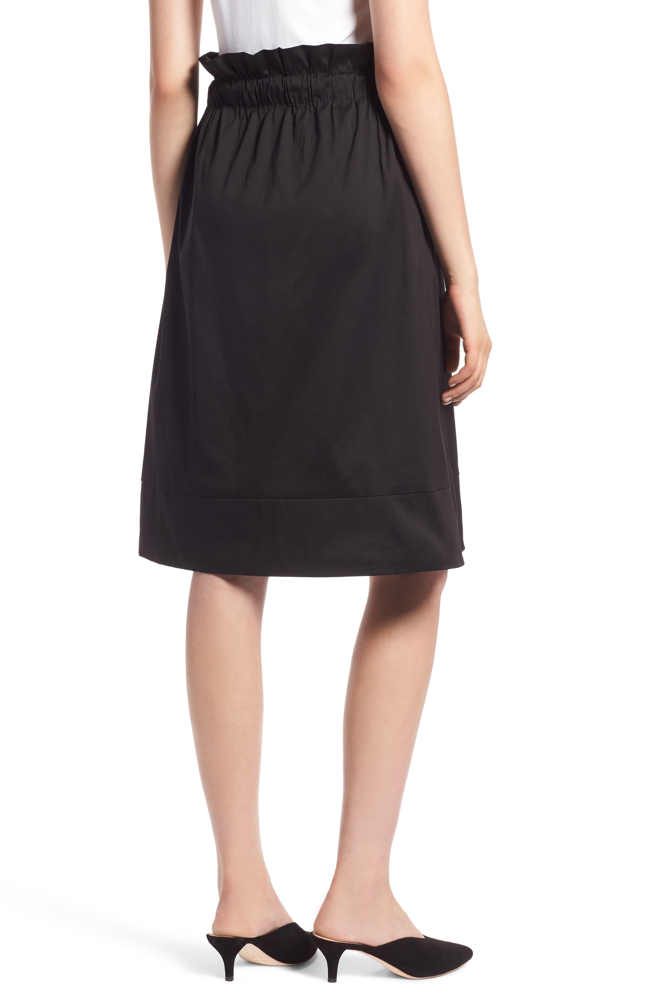 Side Tie A-Line Skirt,                             Alternate thumbnail 2, color,                             001
