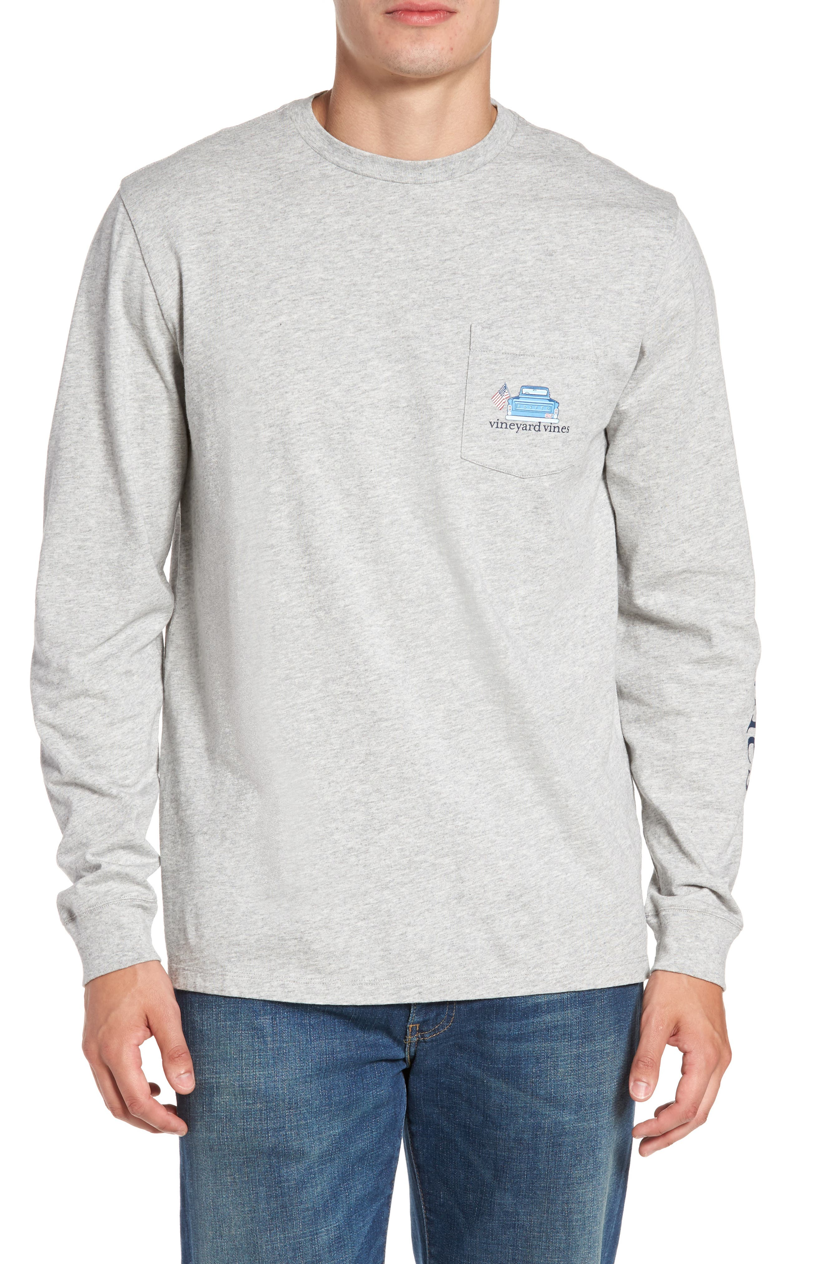 Americana Game Day Graphic Long Sleeve T-Shirt,                         Main,                         color, 039