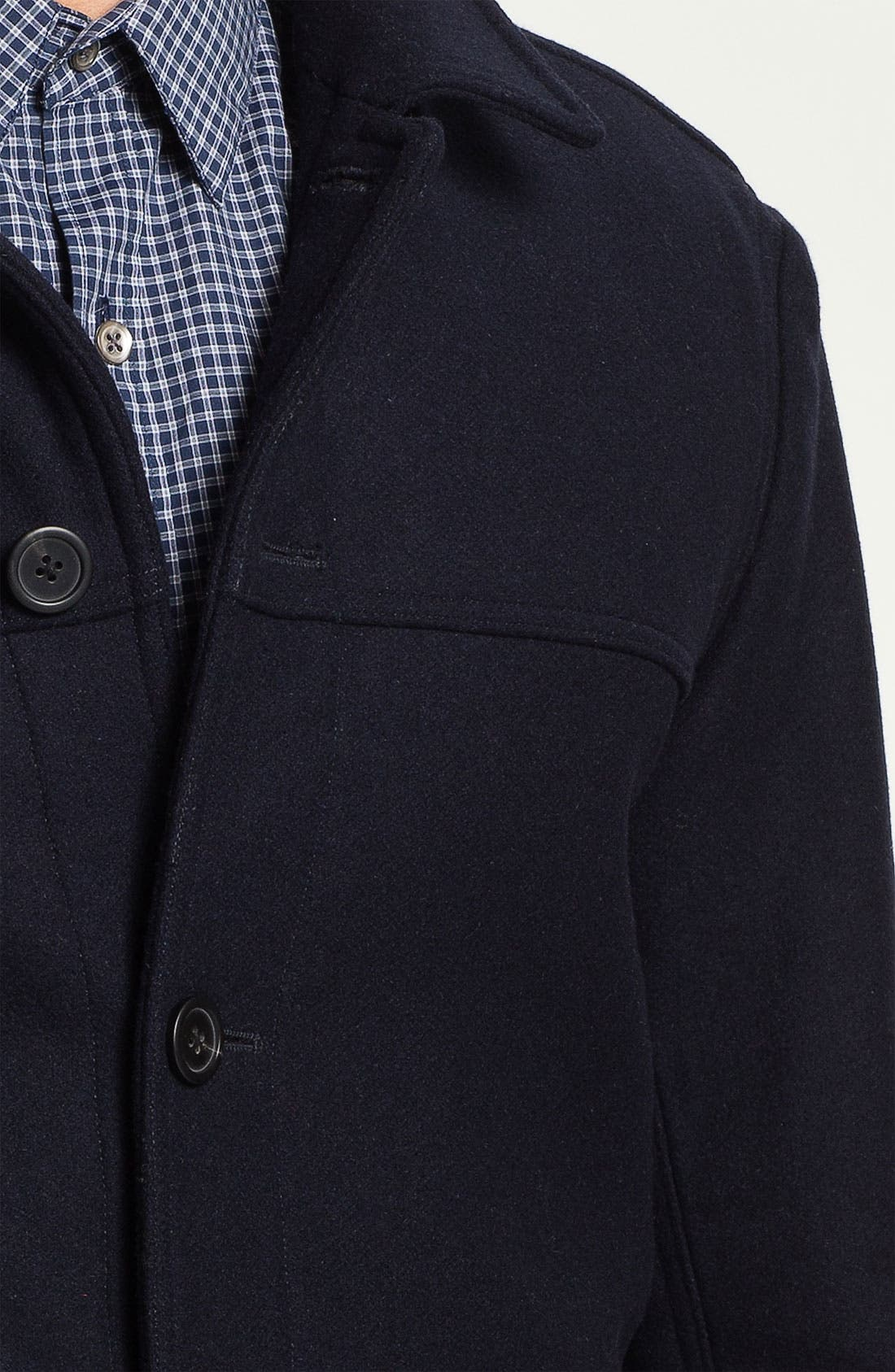 THEORY,                             Wool & Cashmere Blend Coat,                             Alternate thumbnail 3, color,                             025