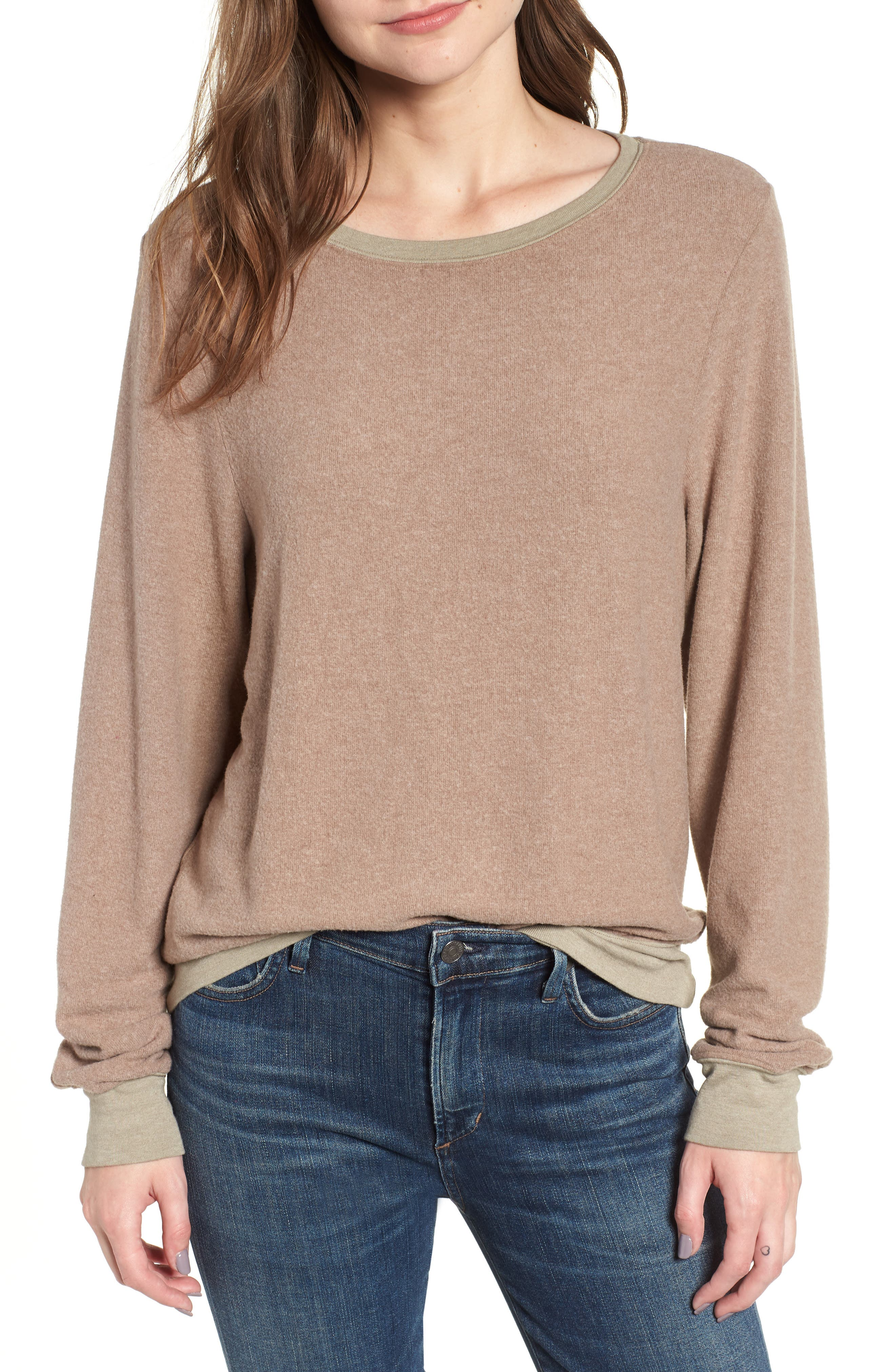 Baggy Beach Jumper Pullover,                         Main,                         color, UMBER GREY
