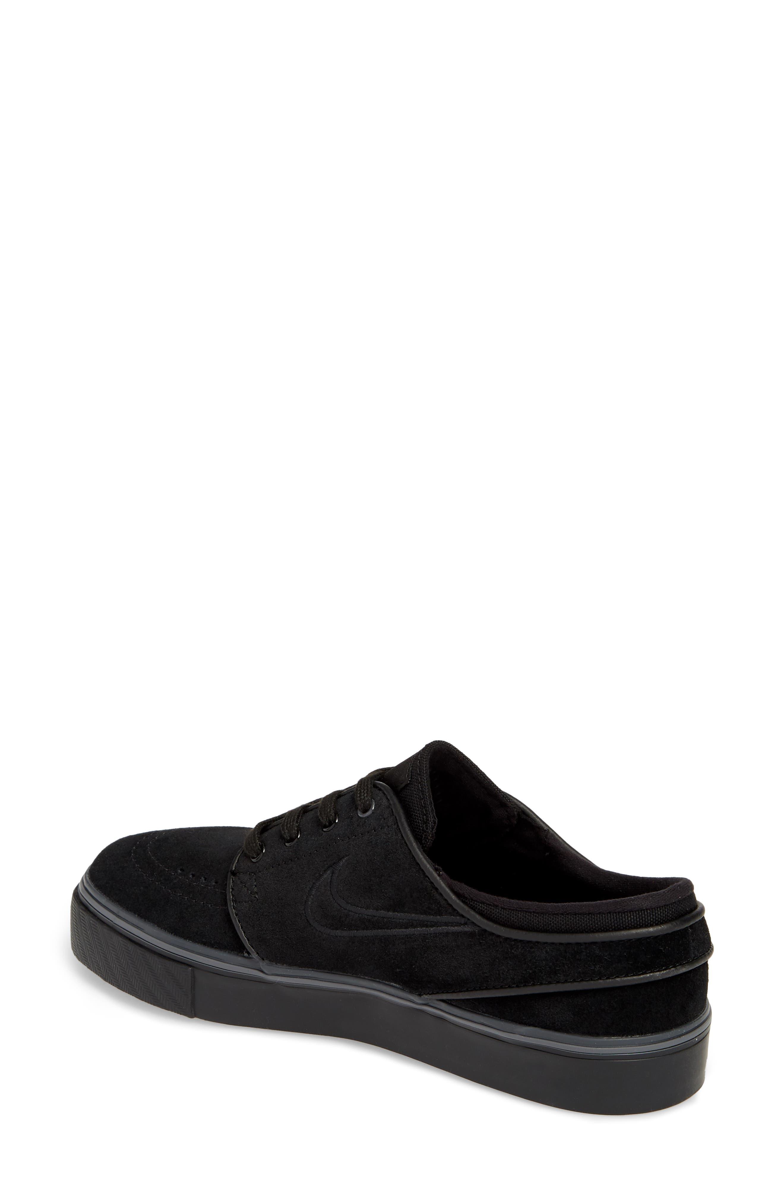 SB Air Zoom Stefan Janoski Skate Sneaker,                             Alternate thumbnail 2, color,                             BLACK/ BLACK/ BLACK