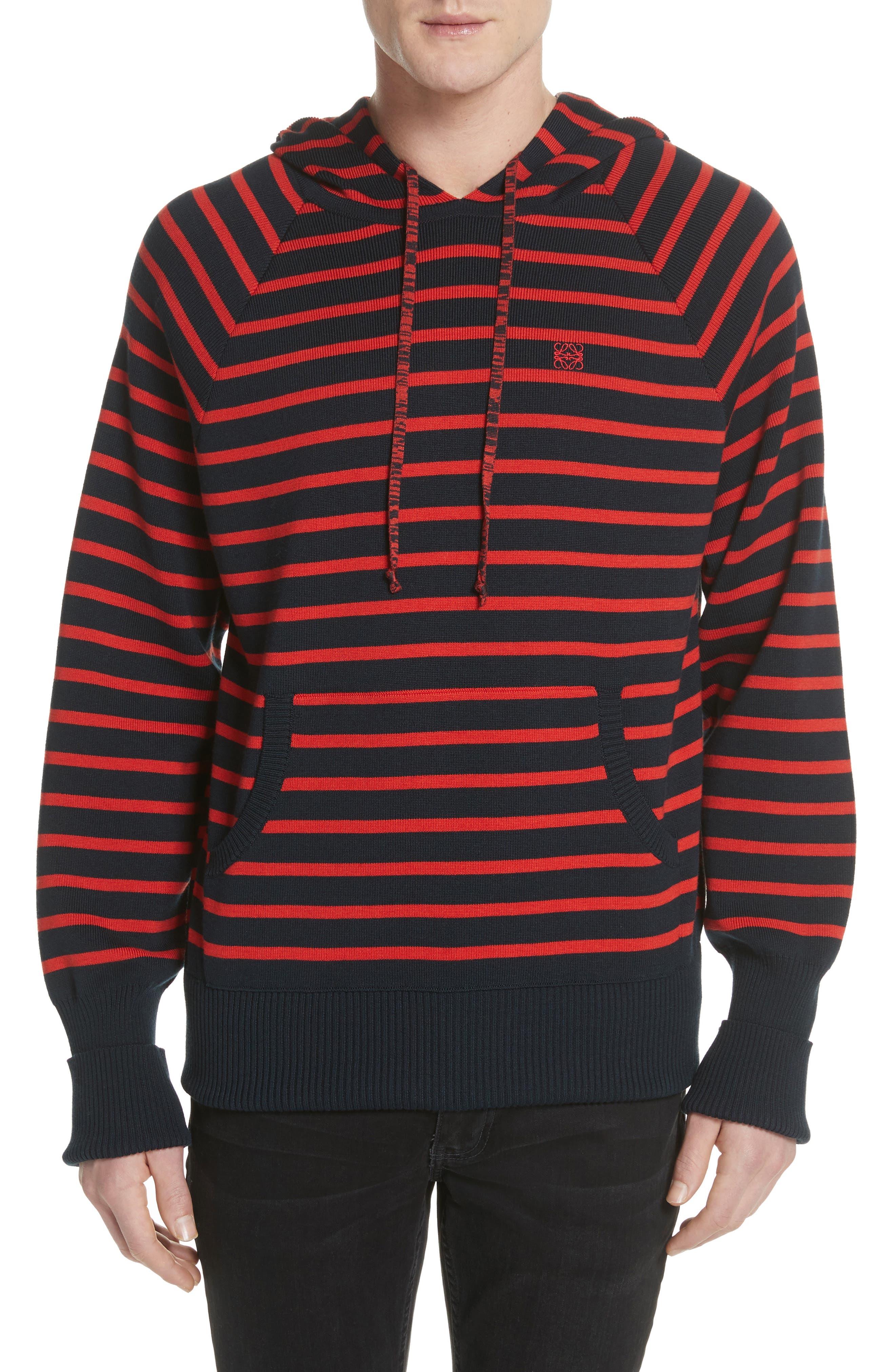 Stripe Wool Blend Hoodie,                         Main,                         color,