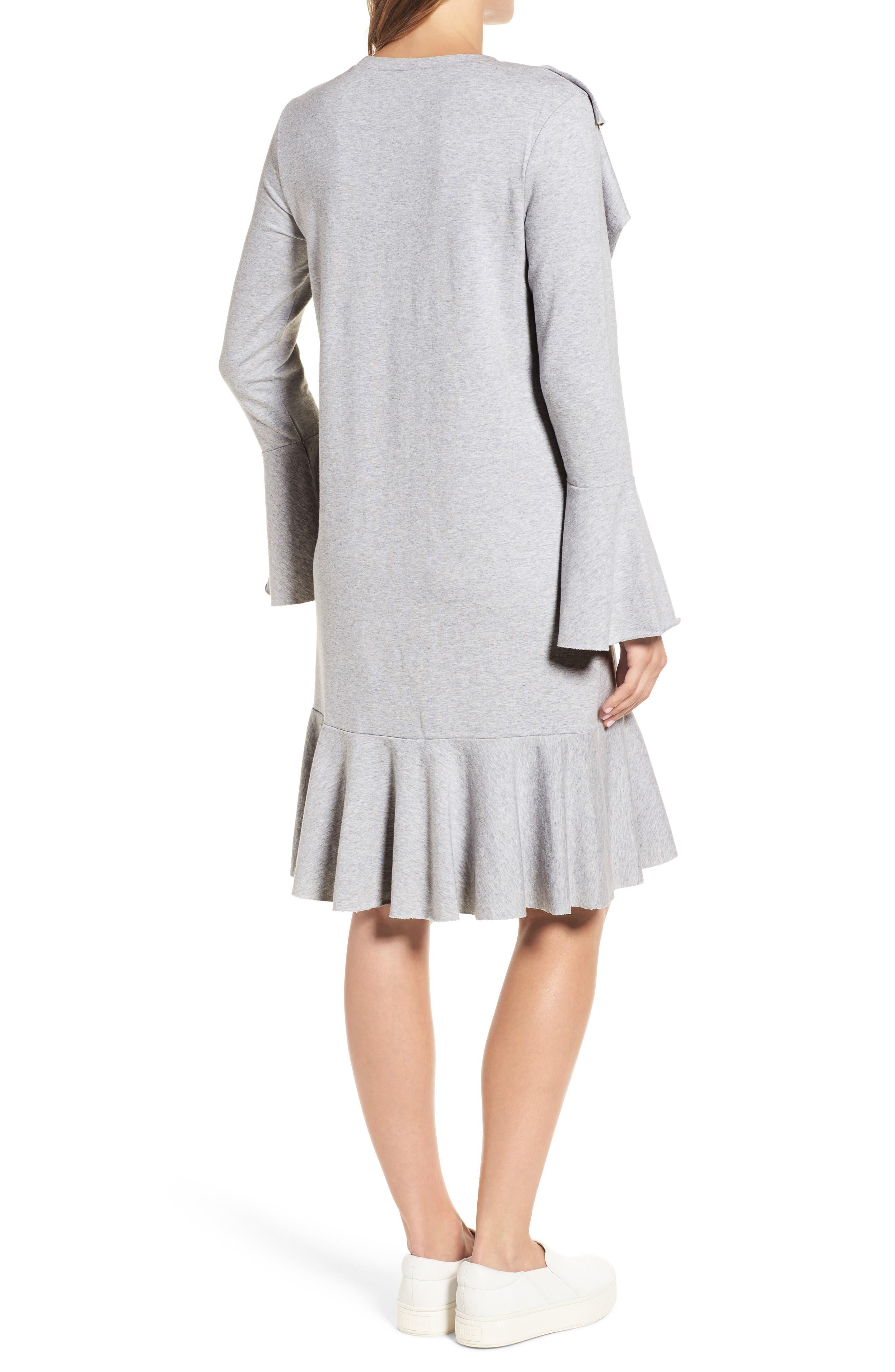Ruffle Detail Knit Dress,                             Alternate thumbnail 5, color,