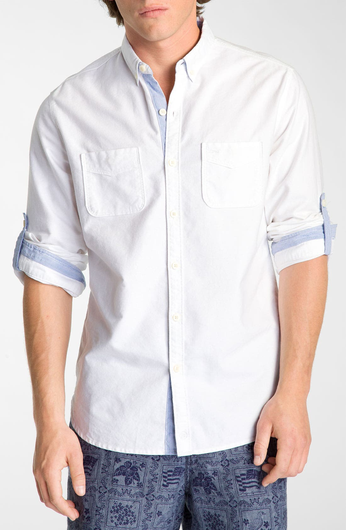 Woven Oxford Shirt,                             Main thumbnail 1, color,                             100