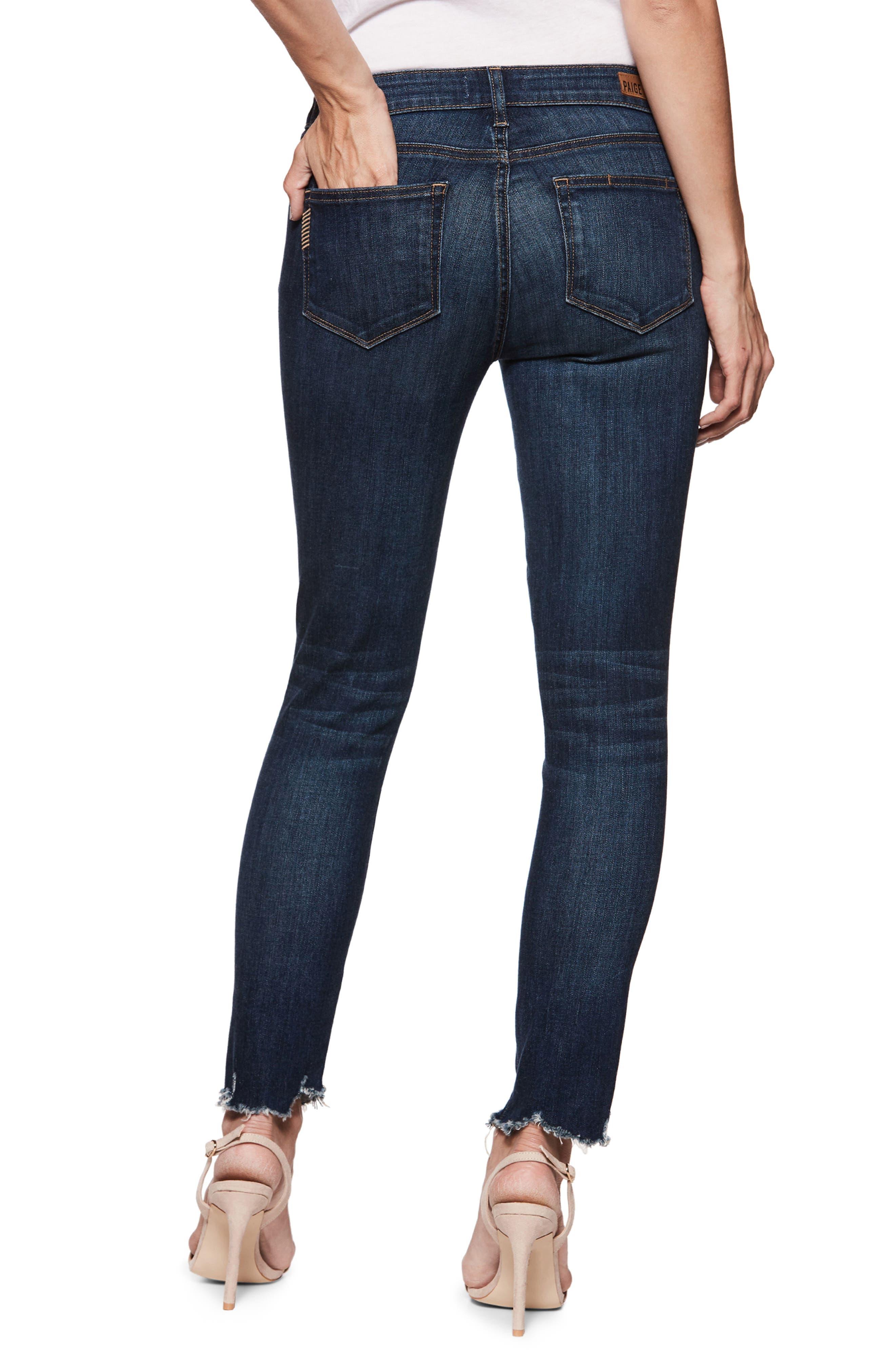 Verdugo Transcend Vintage Ankle Skinny Jeans,                             Alternate thumbnail 2, color,                             BARTON