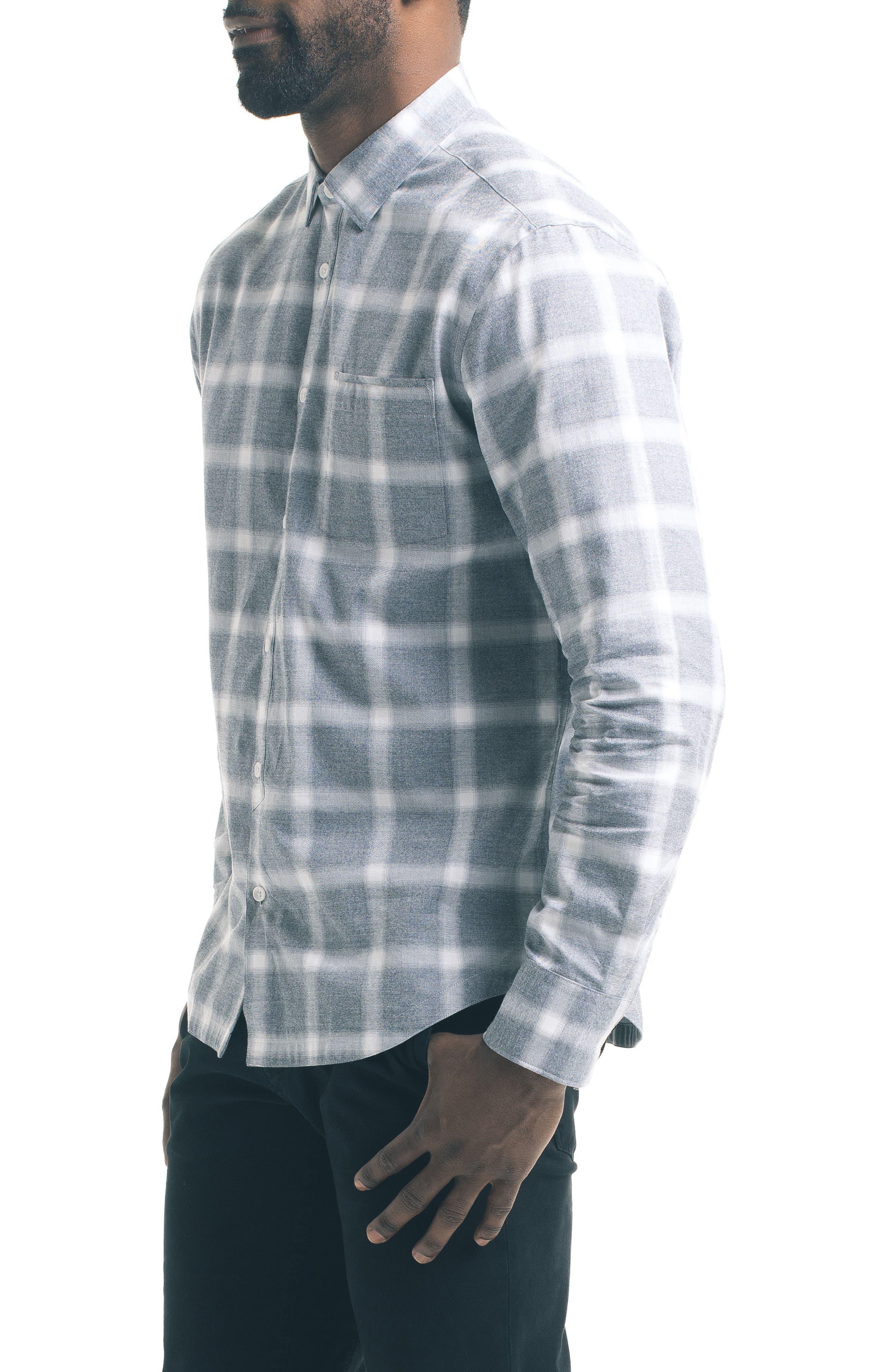 Slim Windowpane Sport Shirt,                             Alternate thumbnail 3, color,                             020