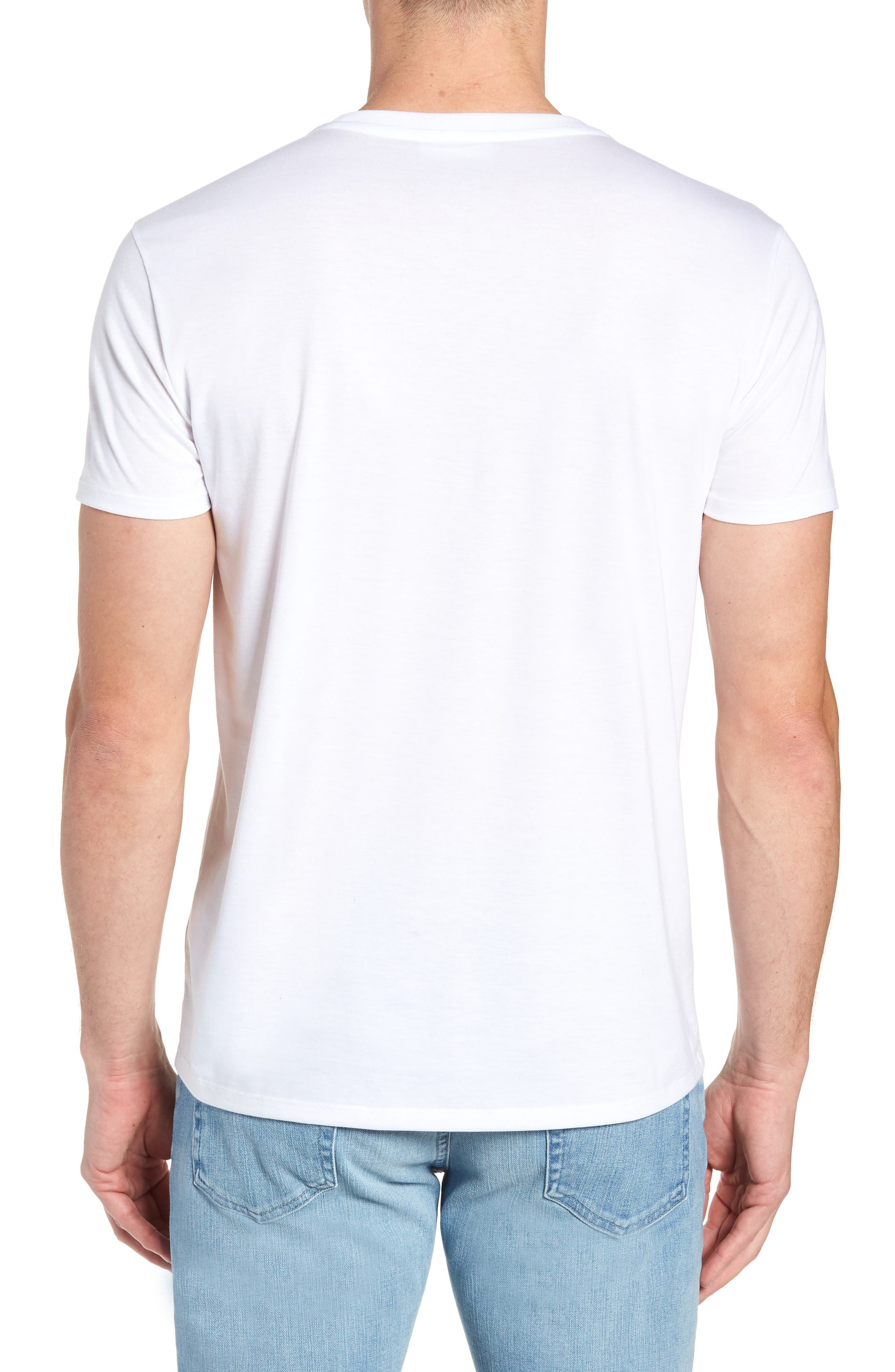 Pima Cotton T-Shirt,                             Alternate thumbnail 2, color,                             WHITE