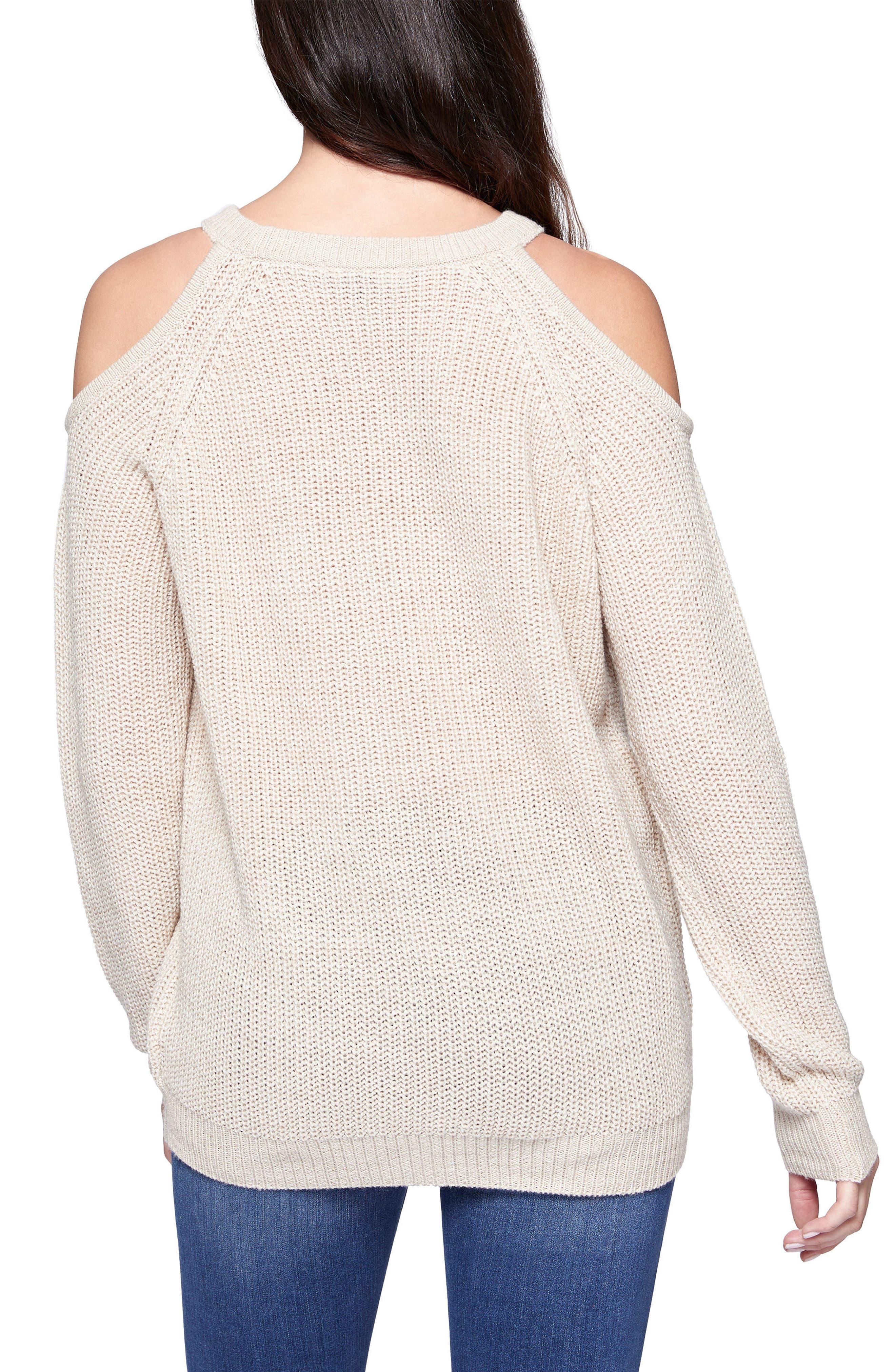 Riley Cold Shoulder Sweater,                             Alternate thumbnail 14, color,