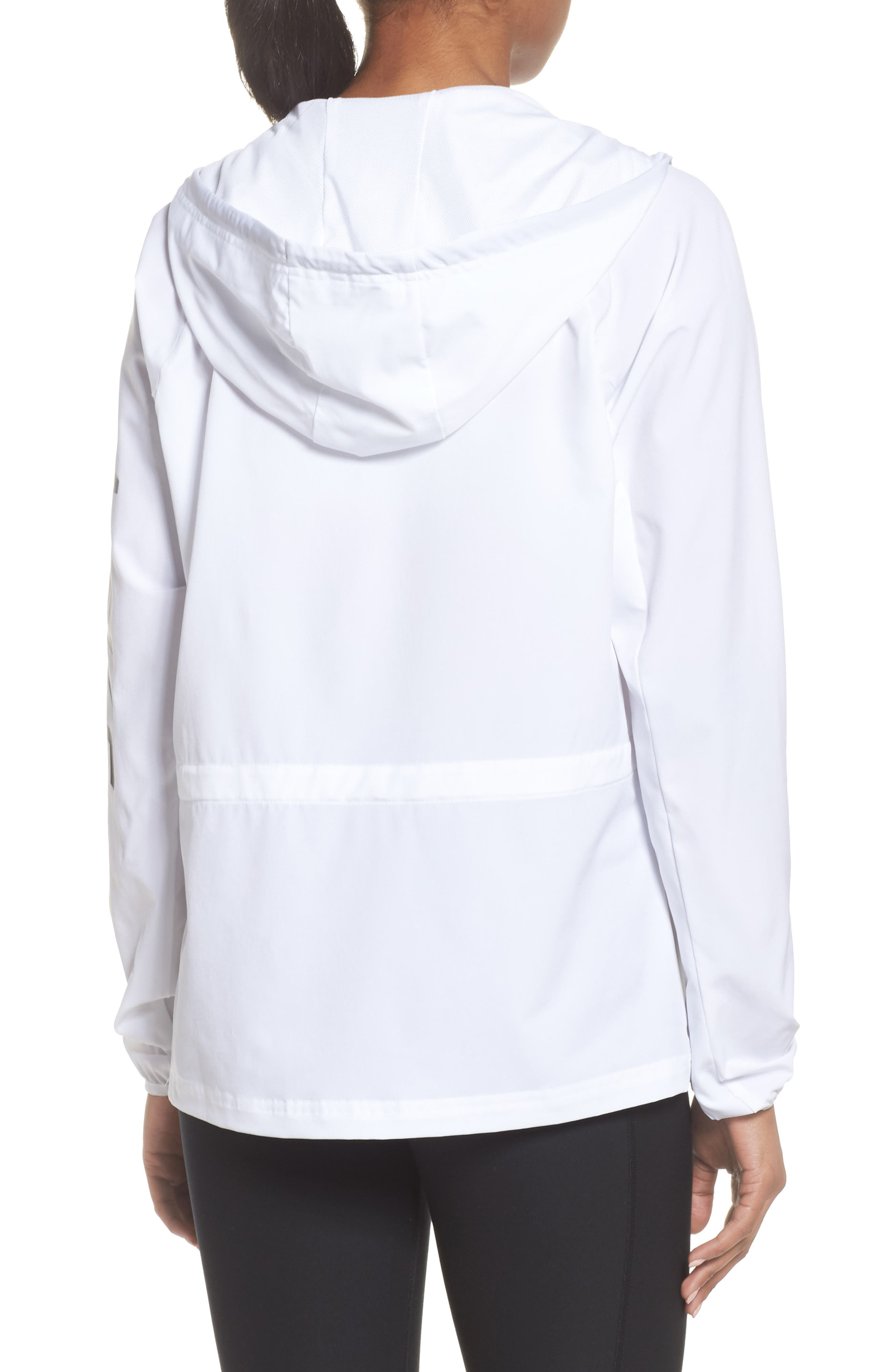 Flex Packable Hooded Training Jacket,                             Alternate thumbnail 3, color,                             100