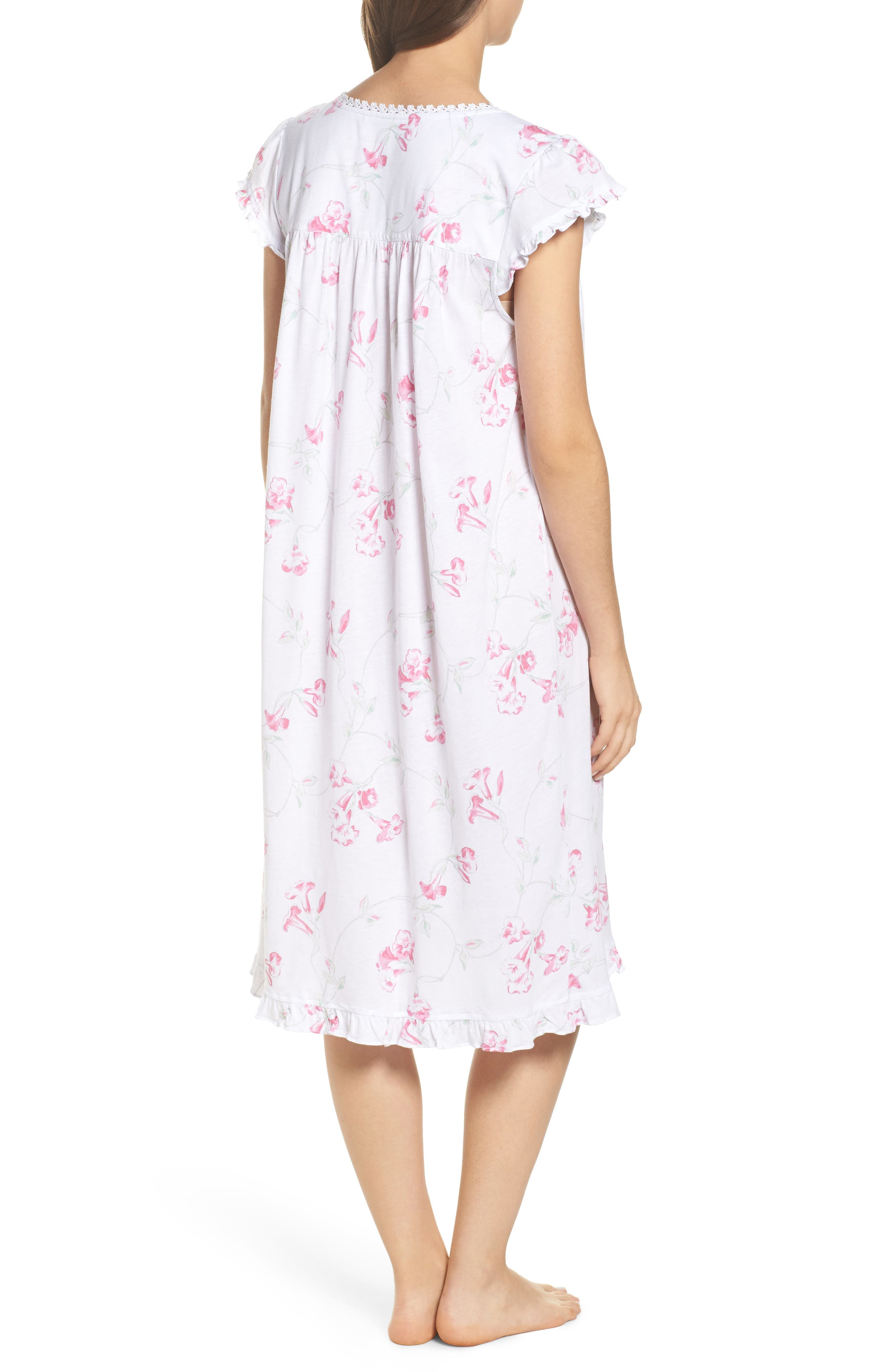 Floral Print Nightgown,                             Alternate thumbnail 2, color,