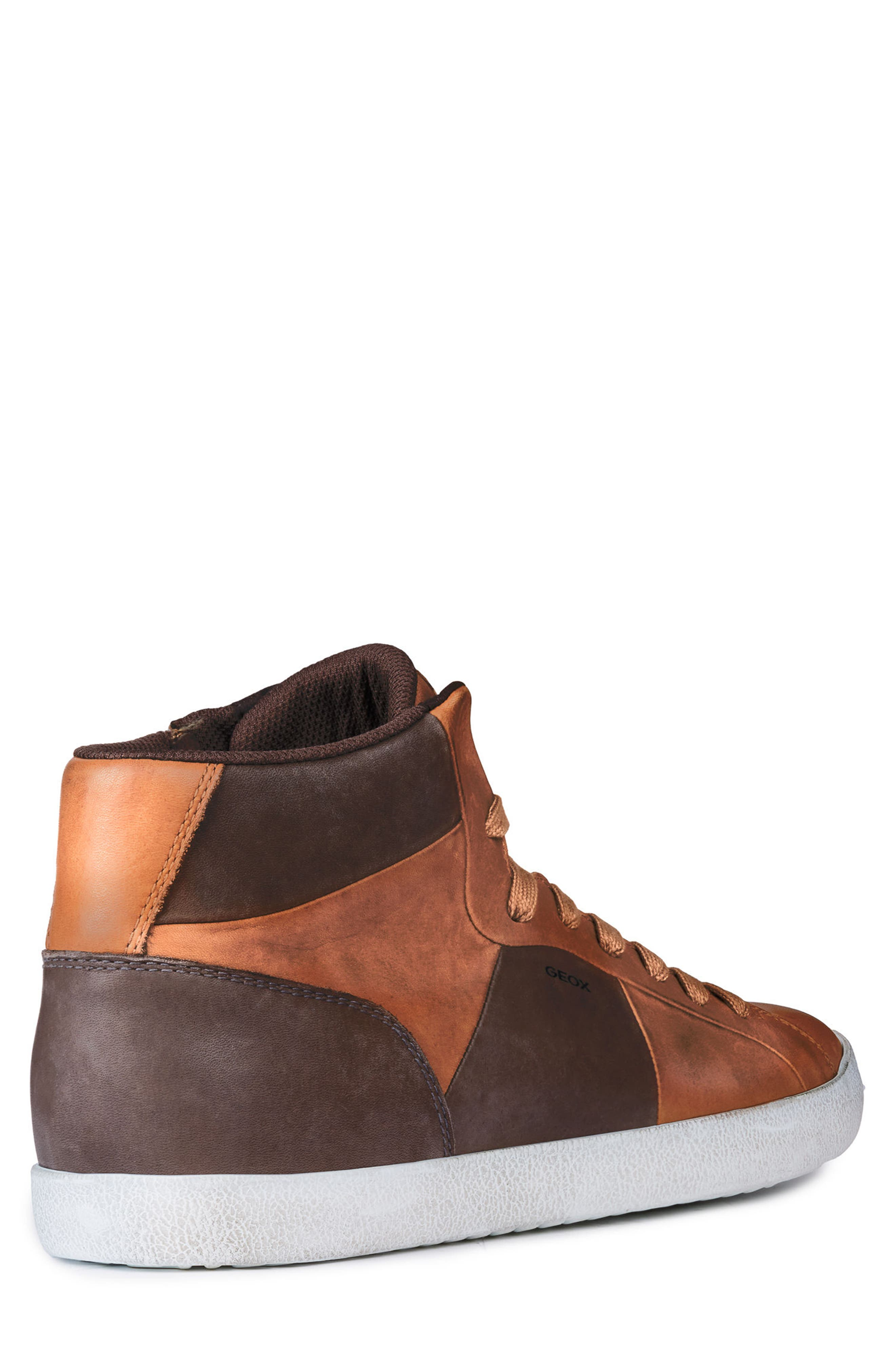 Smart 84 High Top Sneaker,                             Alternate thumbnail 2, color,                             COGNAC/ COFFEE LEATHER