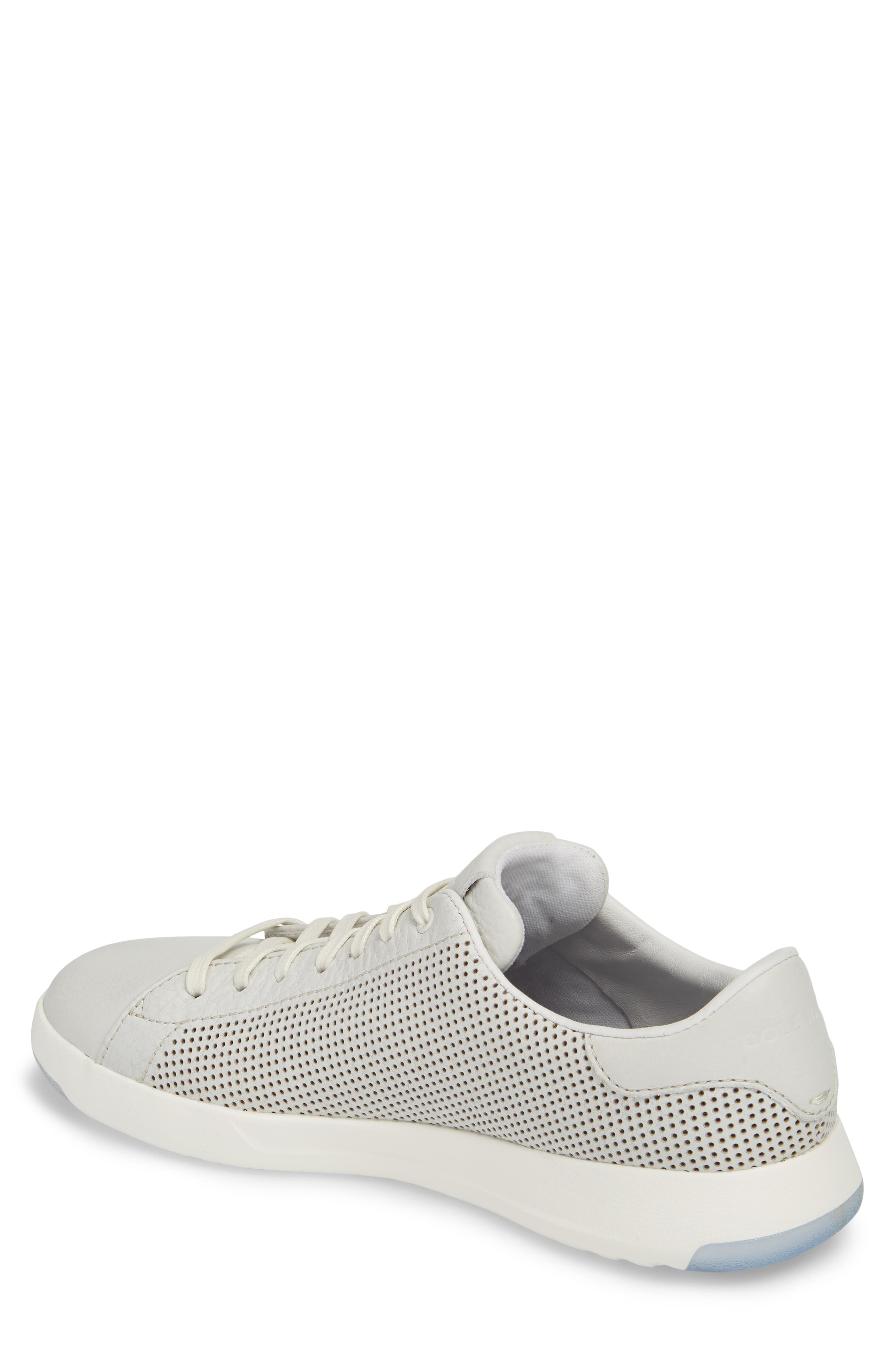 GrandPrø Perforated Low Top Sneaker,                             Alternate thumbnail 2, color,                             WHITE TUM LEATHER