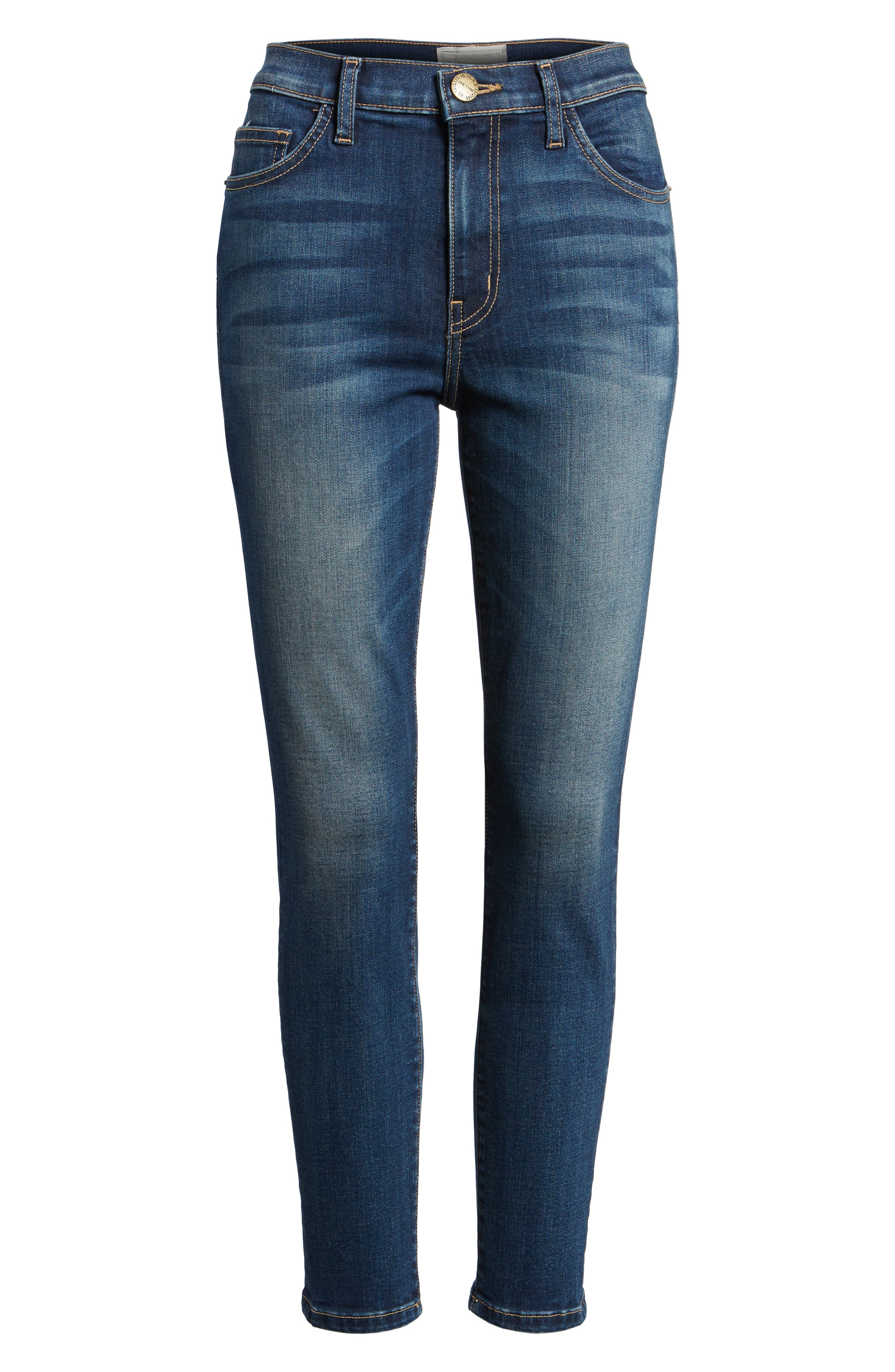 The Stiletto High Waist Ankle Skinny Jeans,                             Alternate thumbnail 7, color,                             477