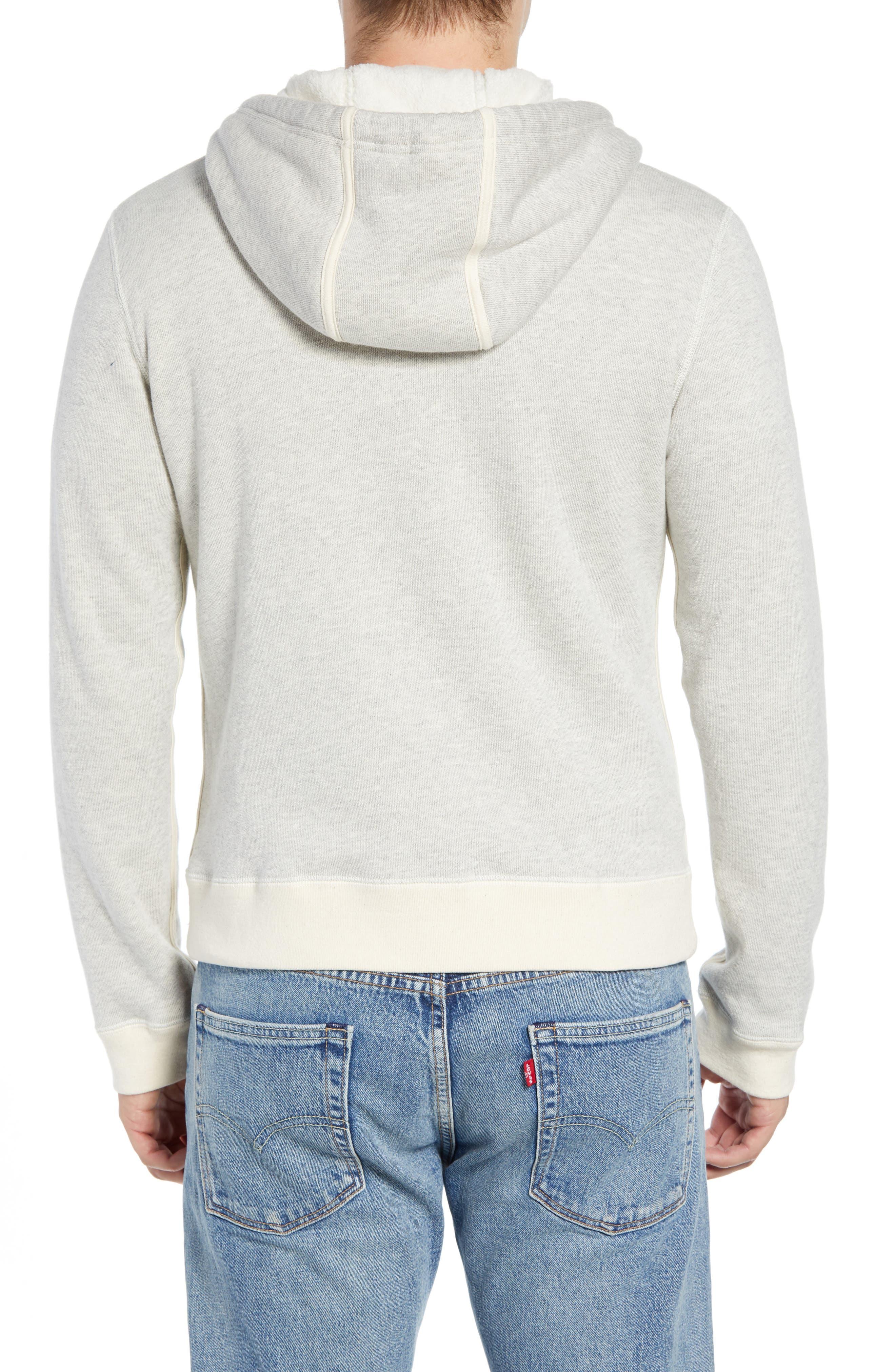 BILLY REID,                             Panelled Fleece Zip Hoodie,                             Alternate thumbnail 2, color,                             032
